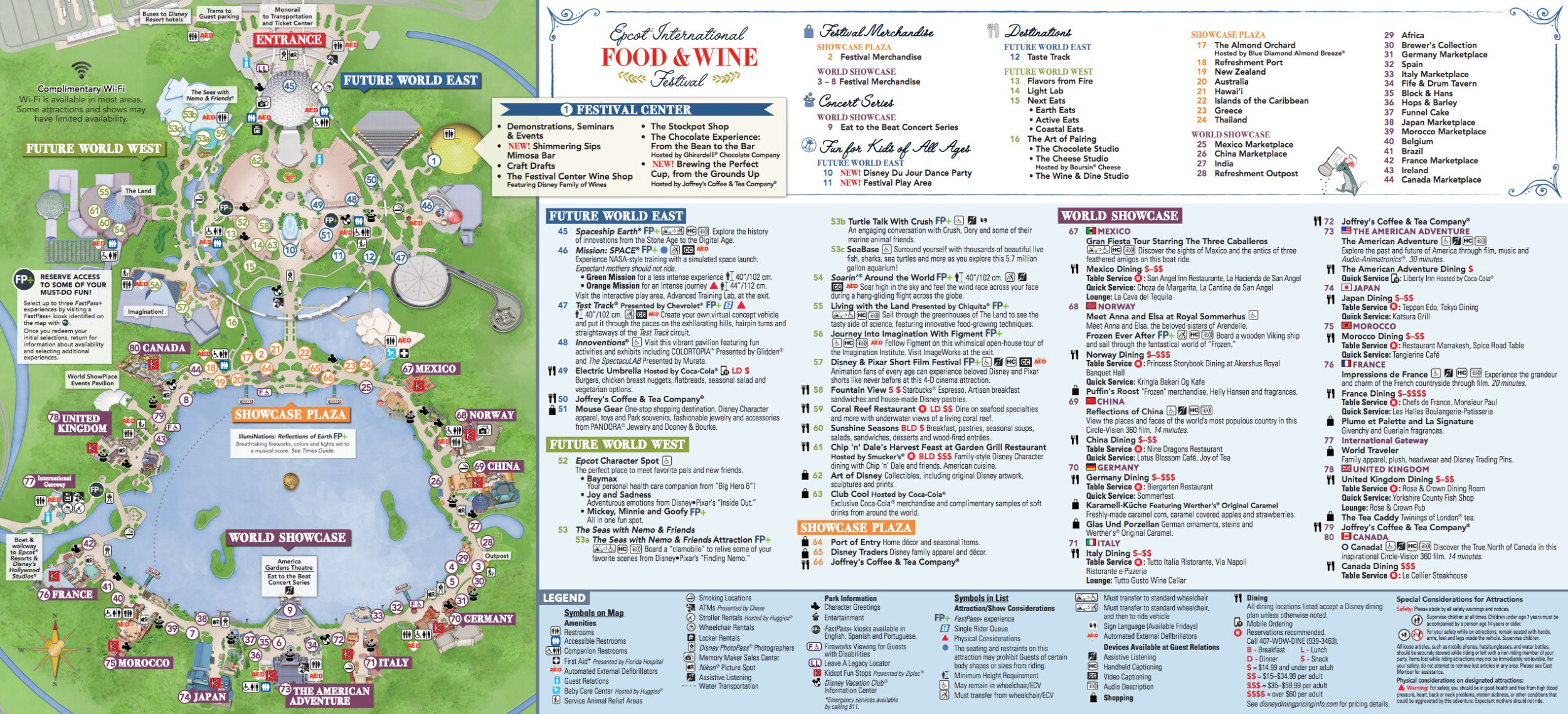Epcot Food And Wine Festival Map 2018 - Epcot Florida Map