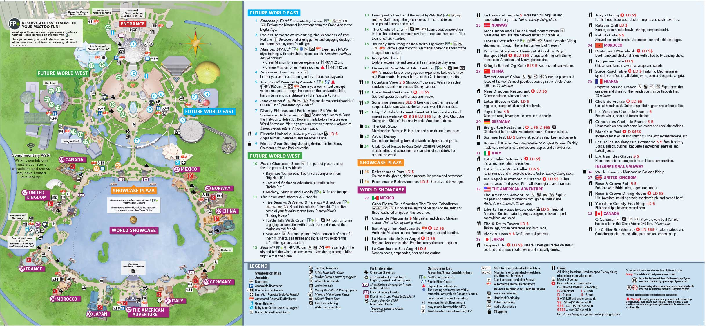 Epcot Map (Walt Disney World) | Wdw Kingdom - Disney Florida Maps 2018