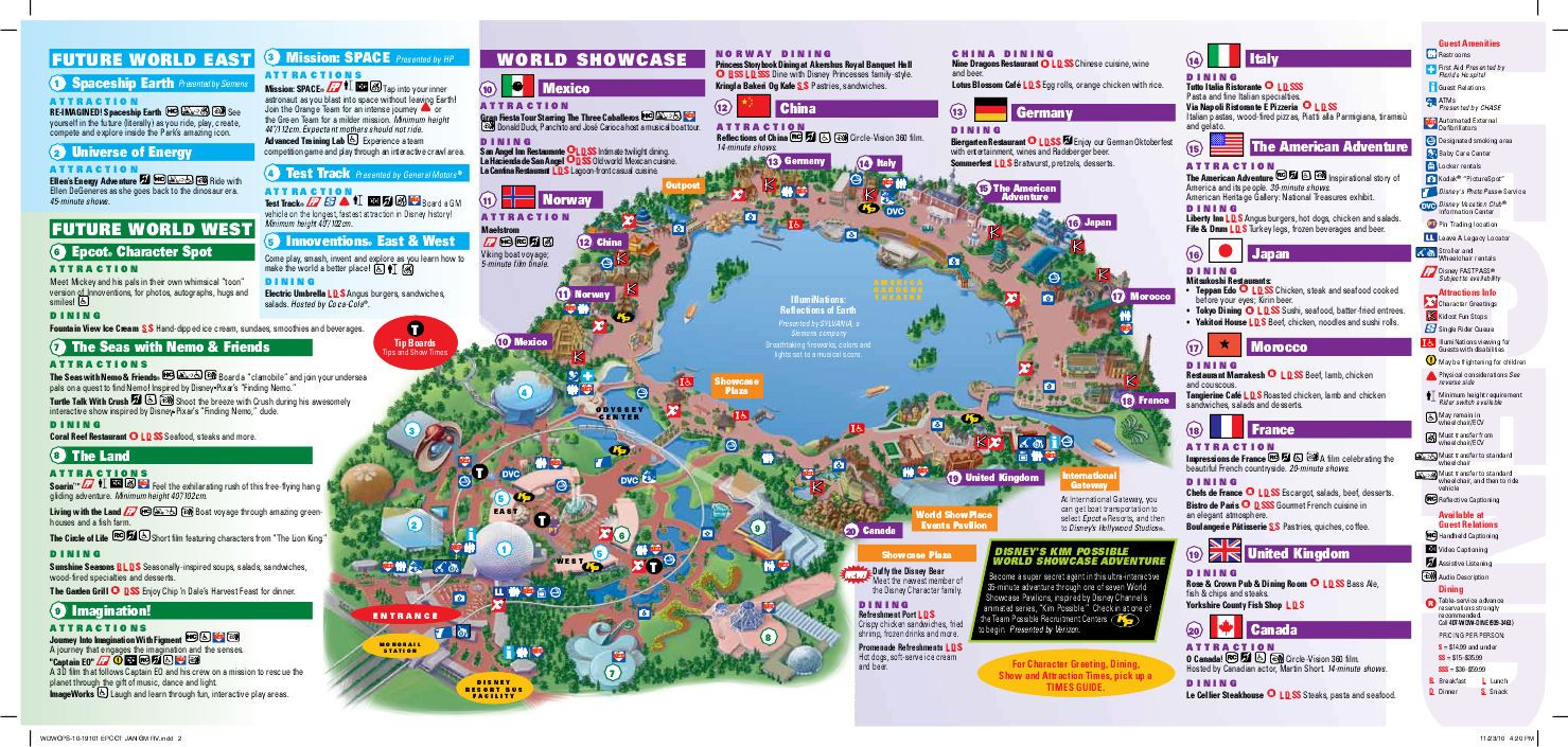 Epcot Map | Wdw -- Epcot | Disney World Epcot Map, Epcot Map, Disney - Epcot Florida Map