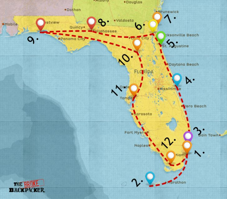 Wisconsin To Florida Road Trip Map