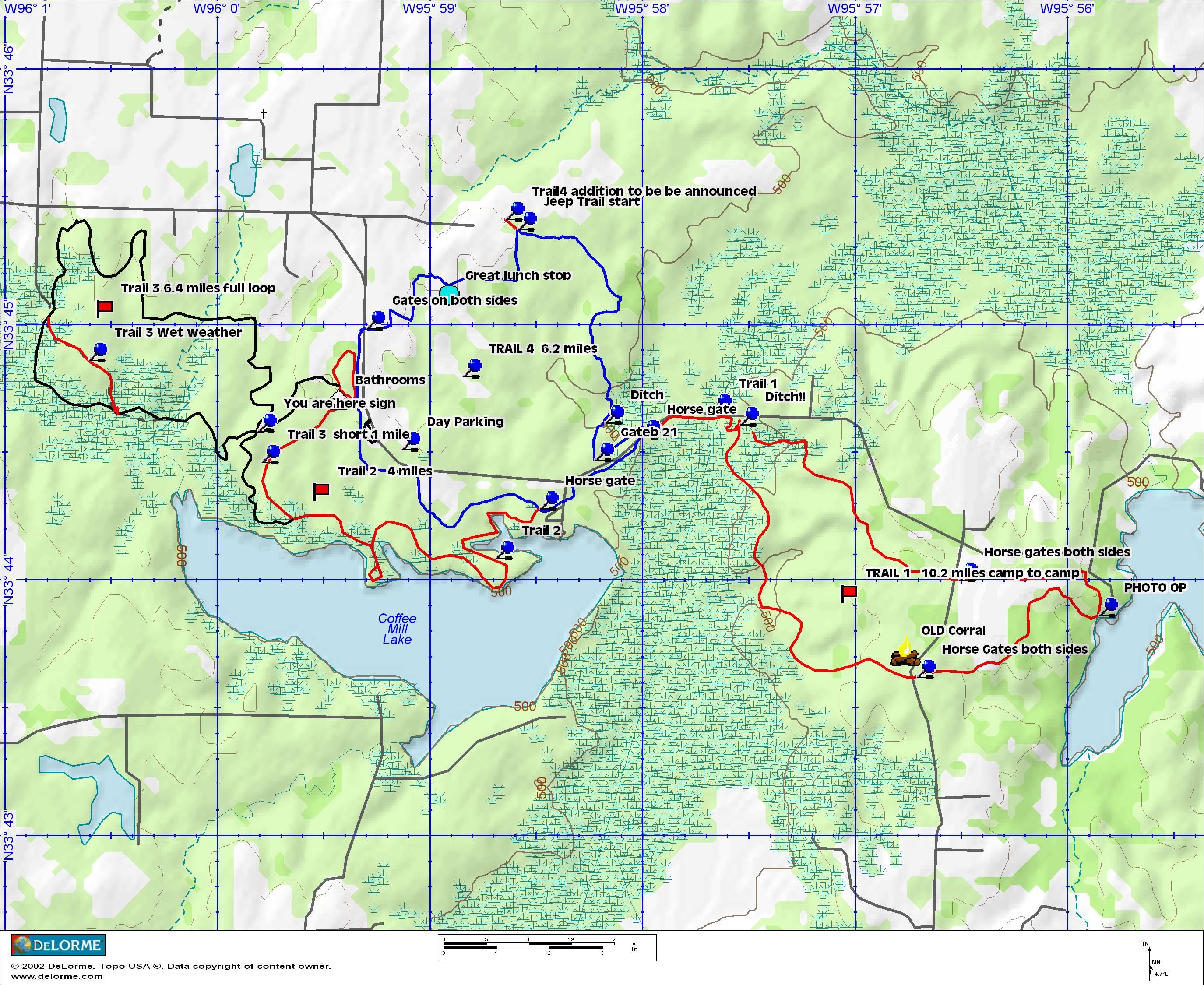 Equestrian Trails - Texas Wma Map