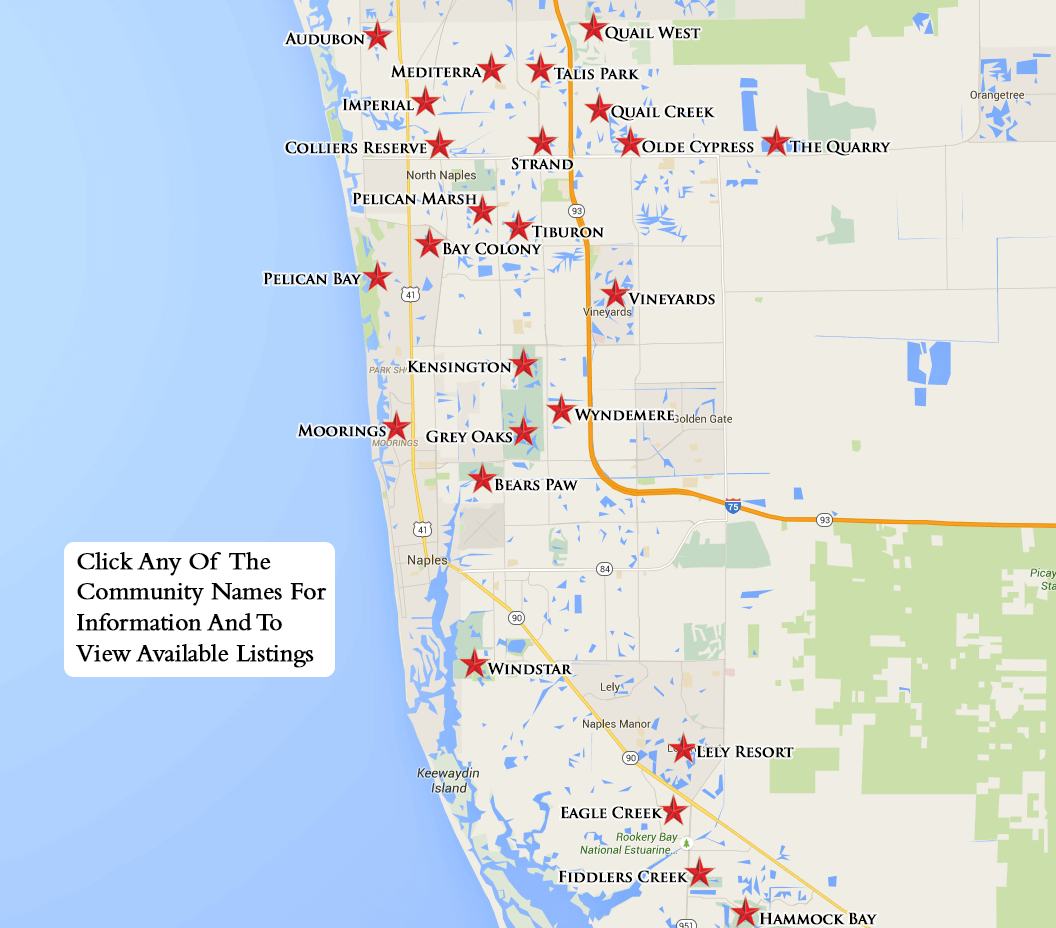 Equity Courses Map - Naples On A Map Of Florida