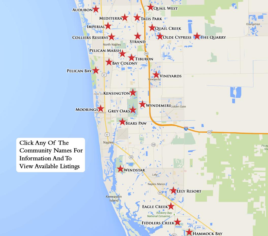Equity Courses Map - Vanderbilt Beach Florida Map