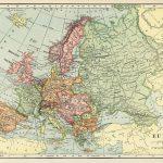Europe Map, Vintage Map Download, Antique Map, C. S. Hammond   Printable Antique Maps