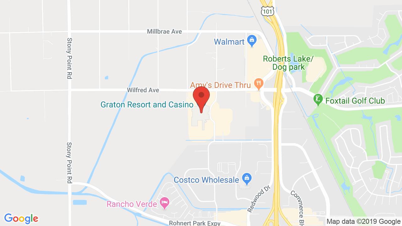Event Center At Graton Resort & Casino - Shows, Tickets, Map, Directions - Graton California Map