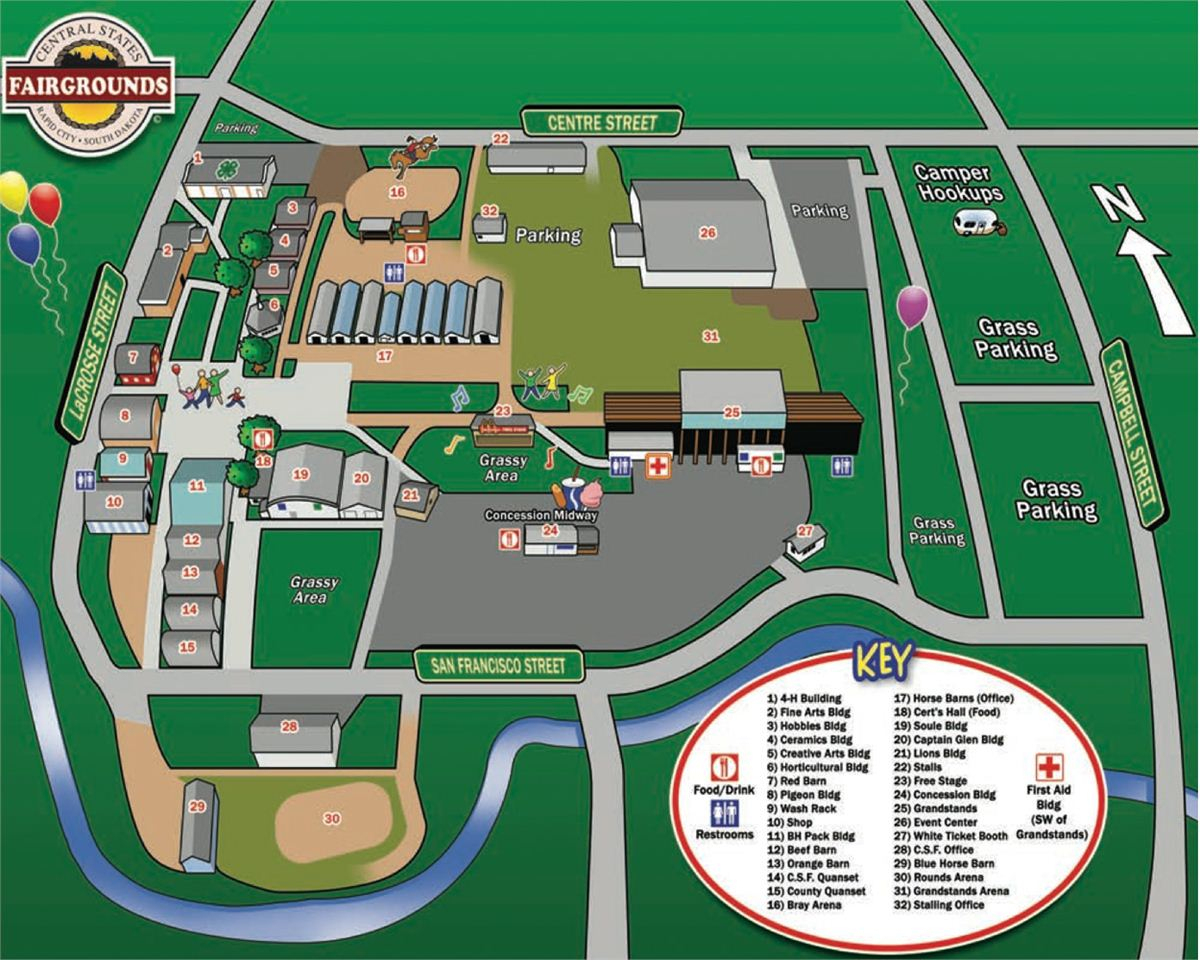 Event Map - Florida State Fairgrounds Map