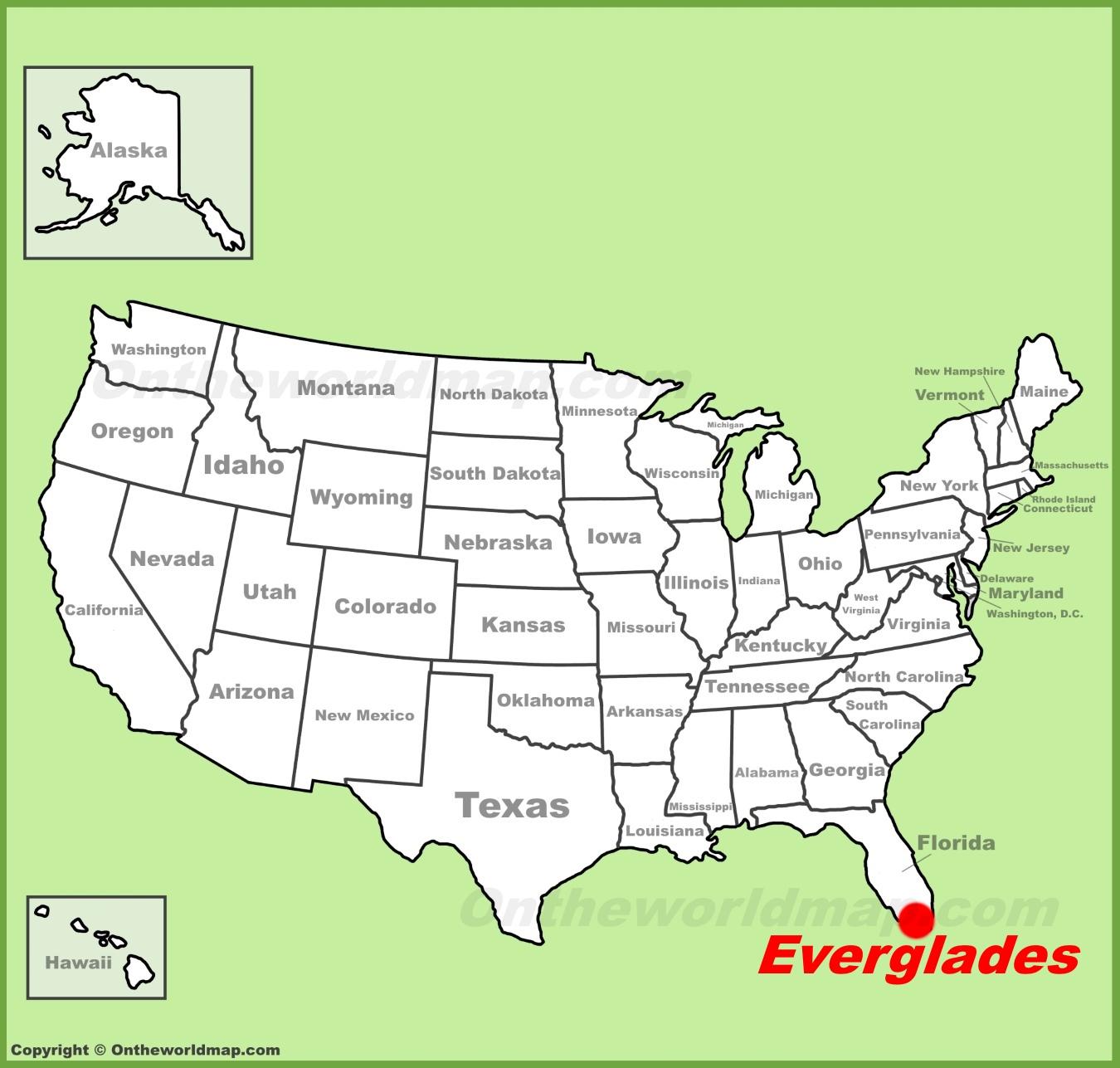 Everglades National Park Maps | Usa | Maps Of Everglades National - Map Of Florida Showing The Everglades