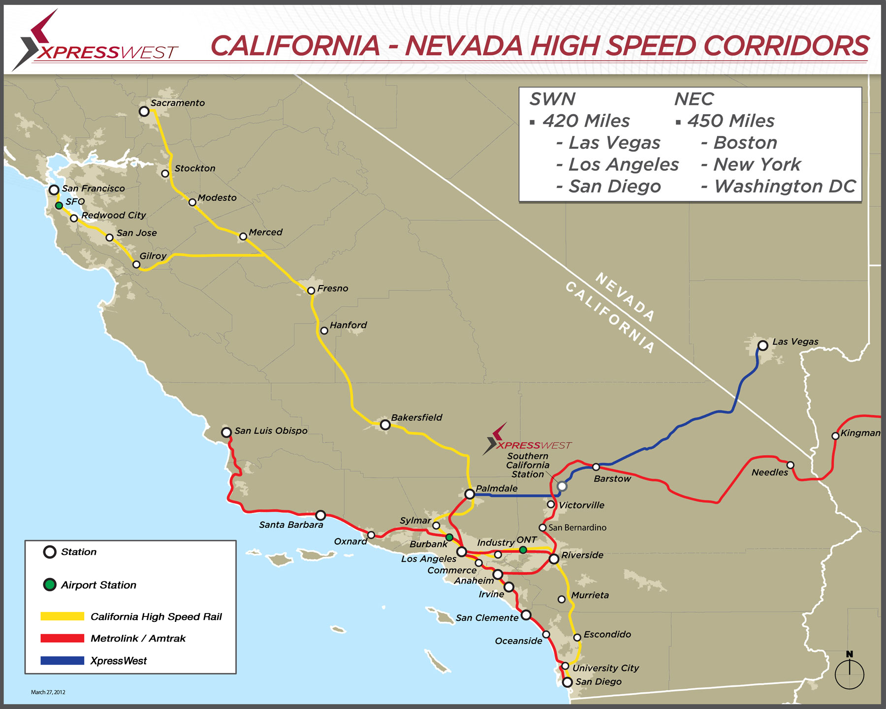Expansion • Xpresswest Website - California High Speed Rail Project Map