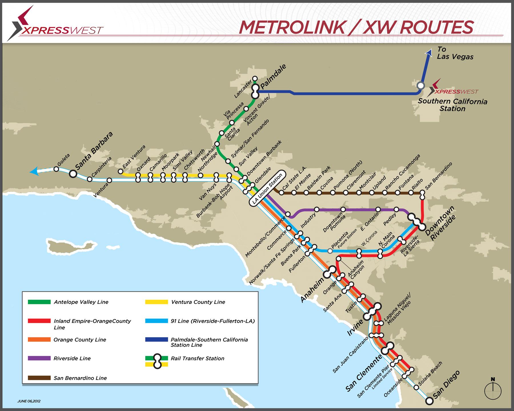 Expansion Map California Southern California Railroad Map California - Southern California Train Map