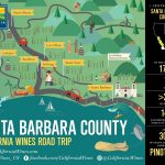 Explore Santa Barbara County On A California Wines Road Trip   The   California Wine Map Poster