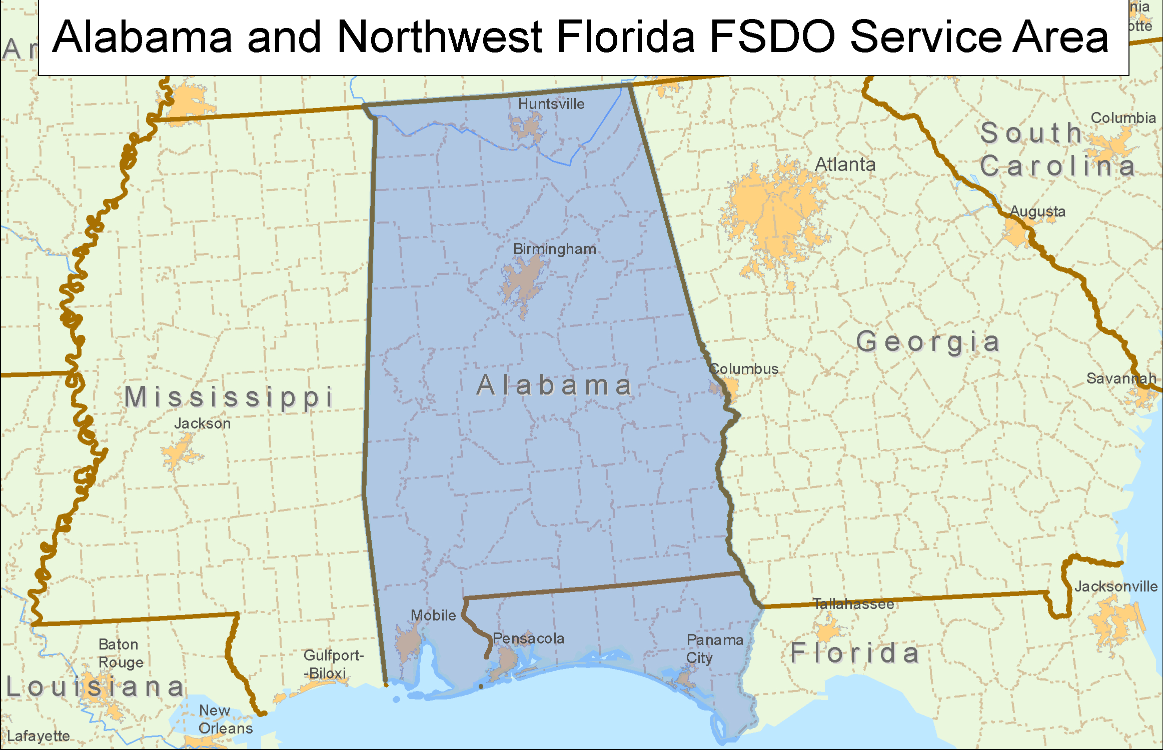 Faa.gov Mobile - Map Of Alabama And Florida