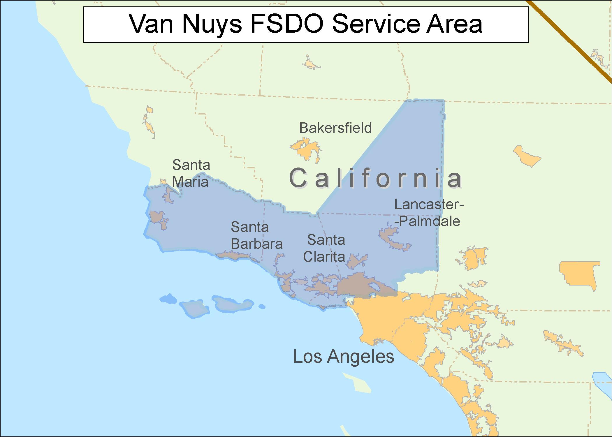 Faa.gov Mobile - Van Nuys California Map