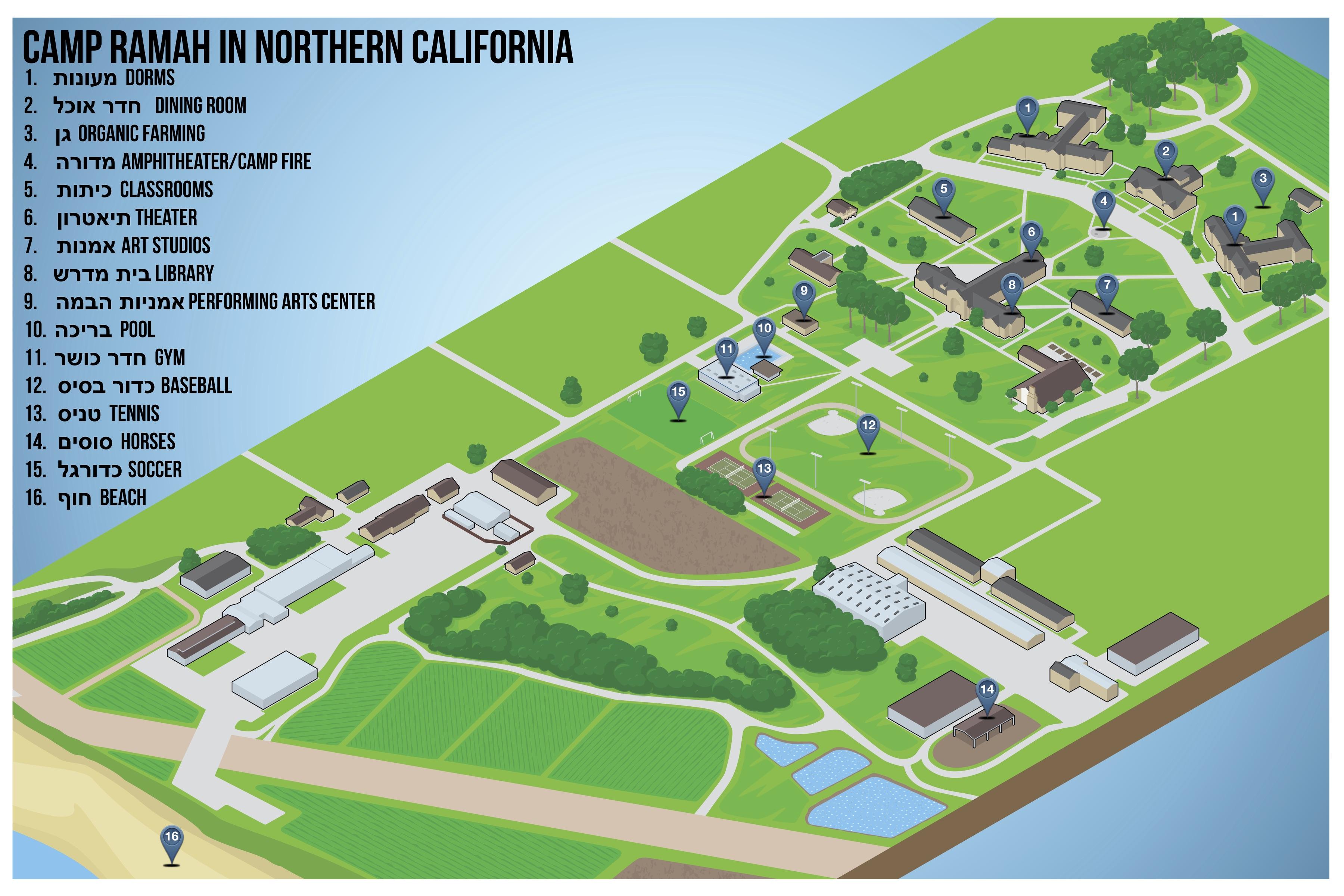 Facilities | Camp Ramah Northern California - Map Of Northern California Campgrounds