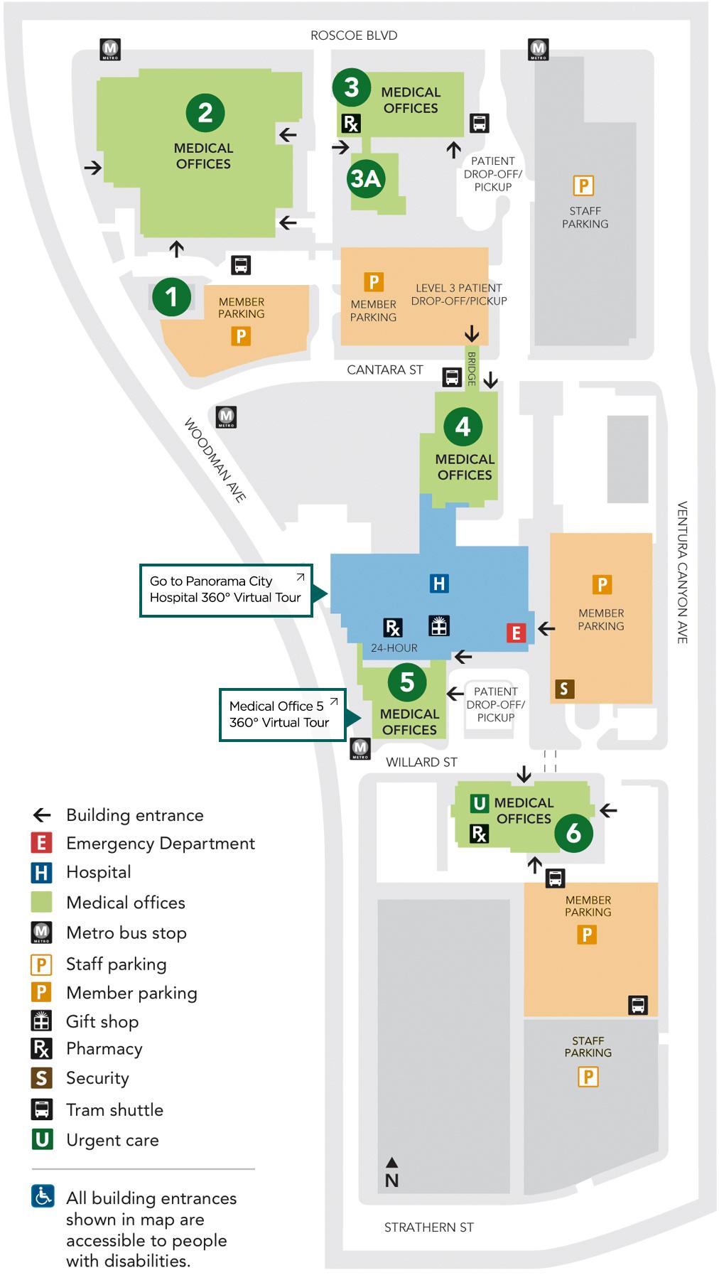 Facilities In Panorama City - Kaiser Permanente Locations In California Map