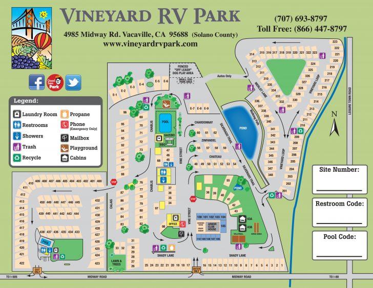 California Rv Resorts Map
