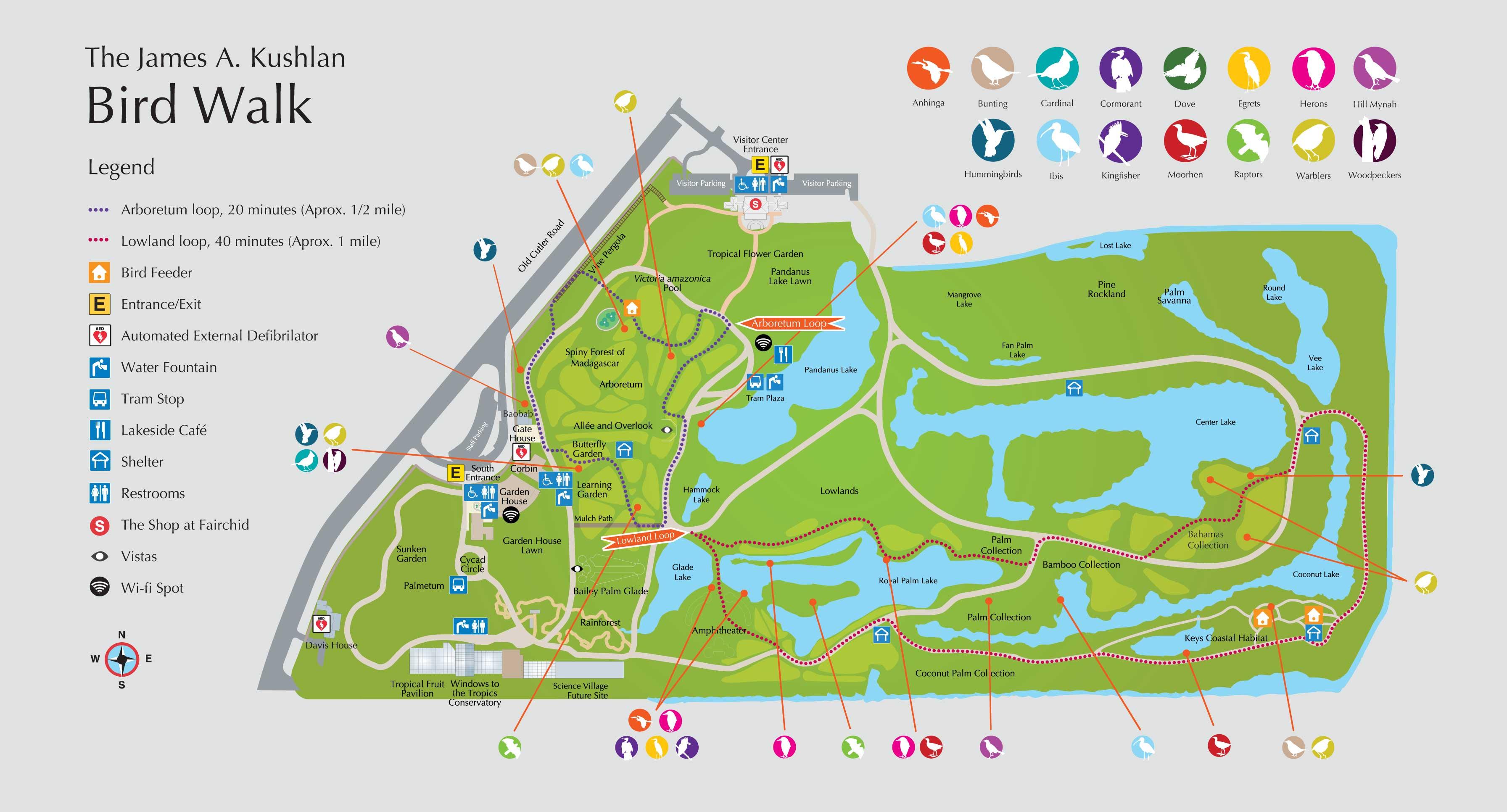 Fairchild Tropical Botanic Garden > Science & Conservation > Kushlan - Florida Botanical Gardens Map