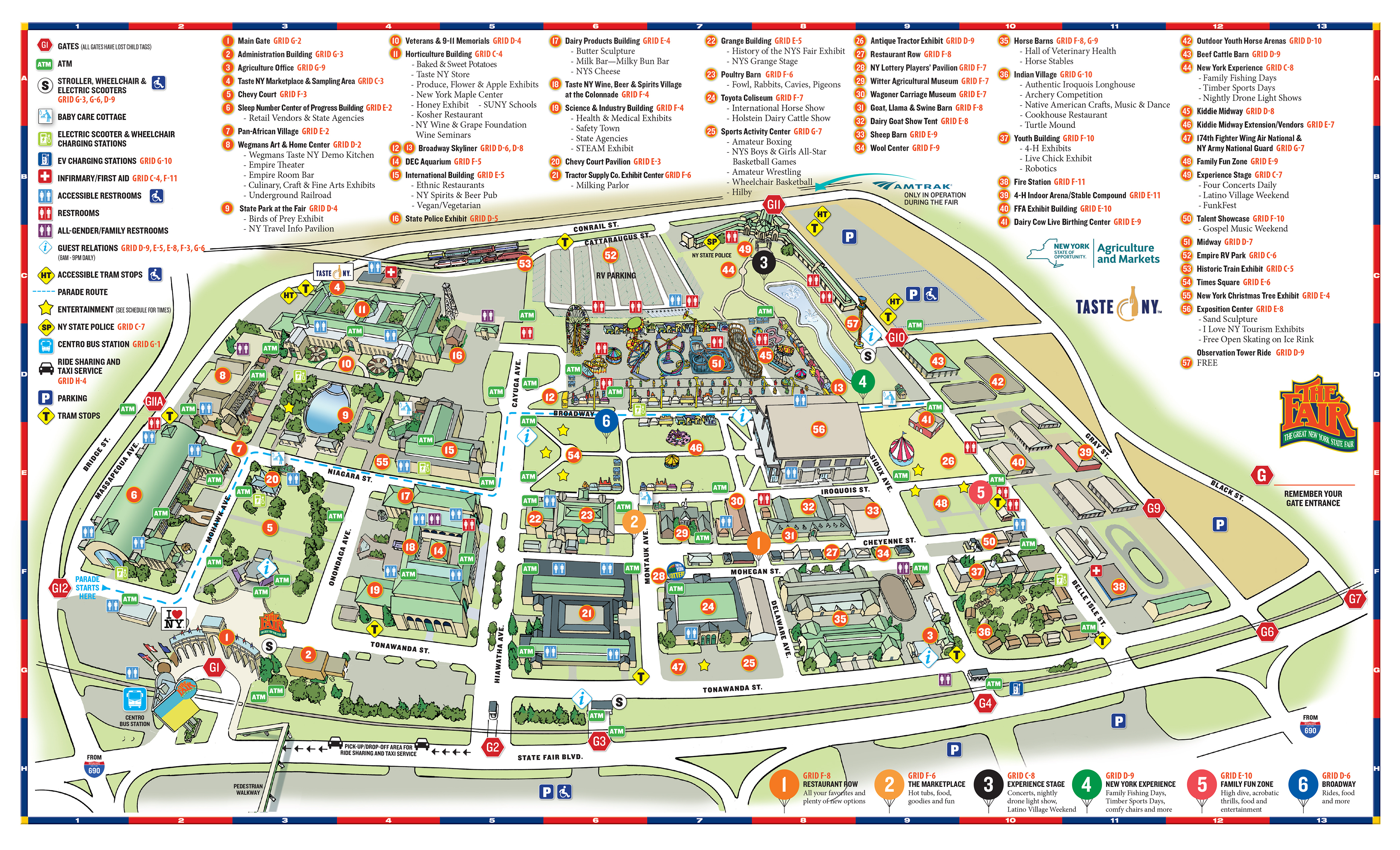 Fairground Maps - The Great New York State Fair! - Florida State Fairgrounds Map
