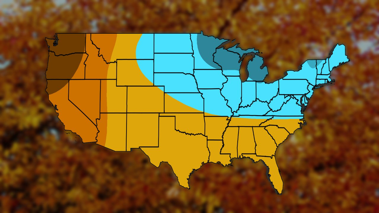 Fall, Early Winter 2018 Temperature Outlook: Chilly In October, Then - Southern California Weather Map
