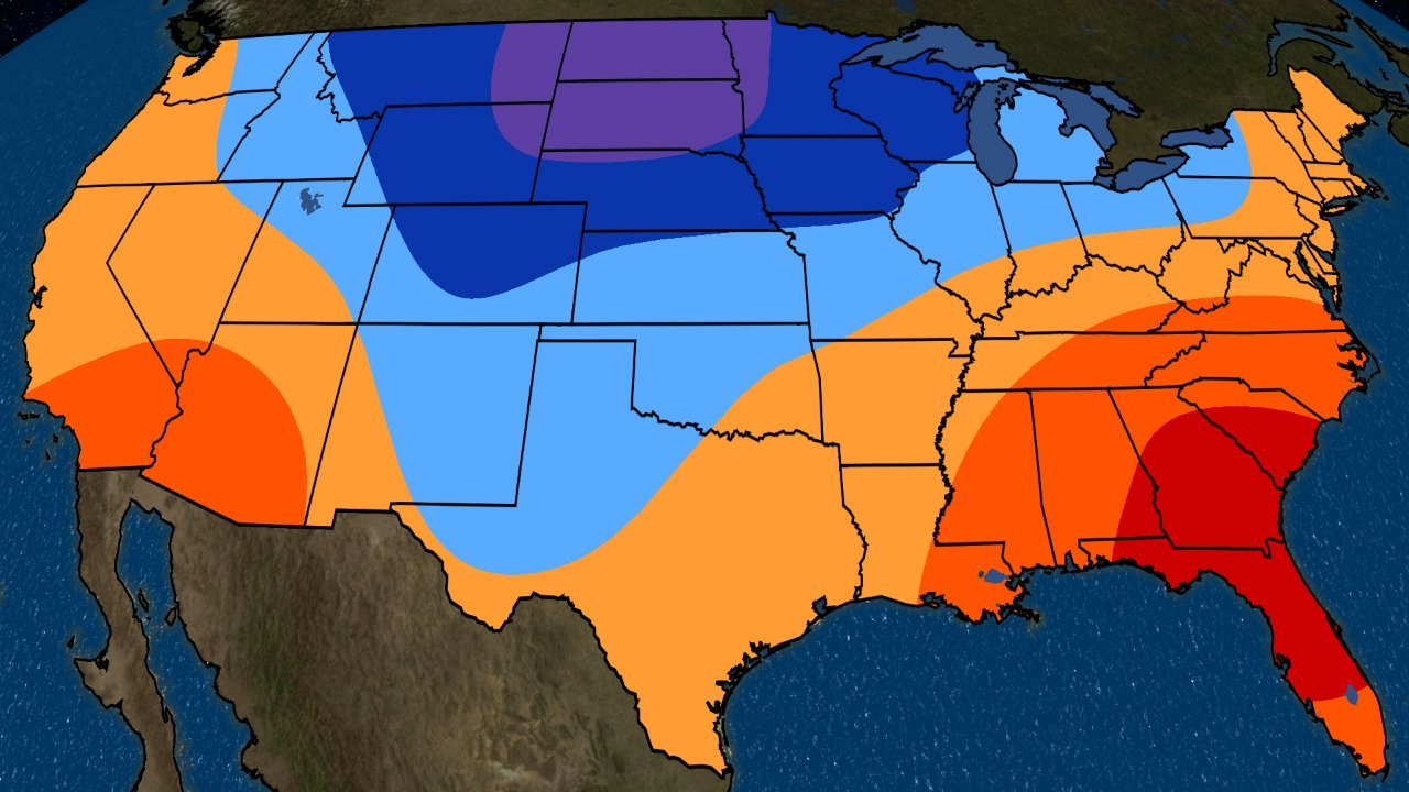 Fall, Early Winter 2018 Temperature Outlook Update: Cold In The - Texas Weather Map Temps