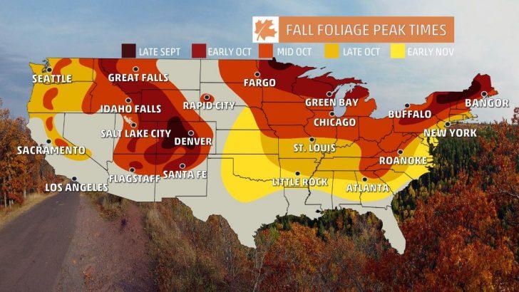 California Fall Color Map