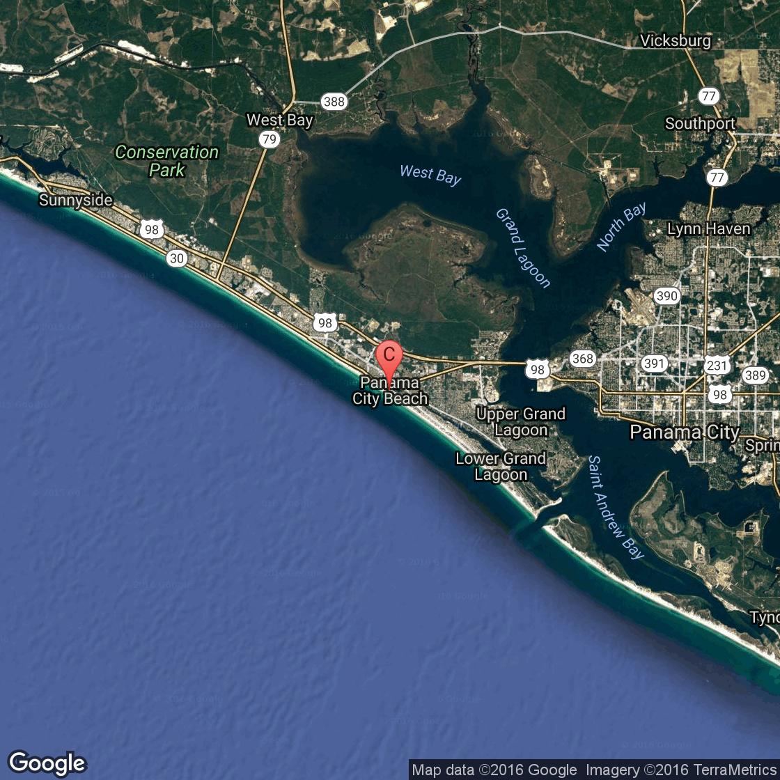 Family-Friendly Condos In Panama City Beach, Florida   Usa Today - Map Of Panama City Beach Florida Condos