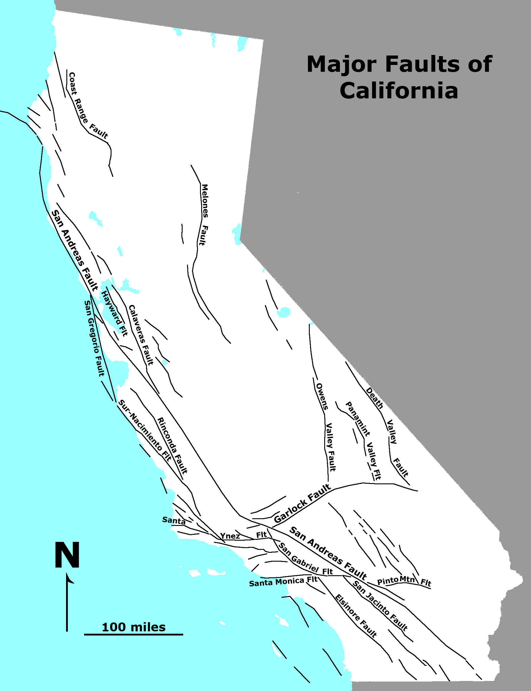 Fault Lines In California Map - Klipy - California Fault Lines Map
