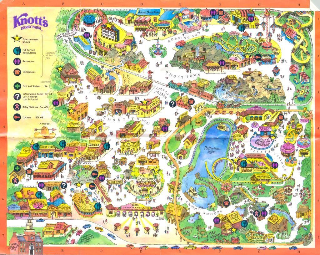 Feacfffbb Free Print Map Knotts Berry Farm California Map - Klipy - Knotts Berry Farm Map California