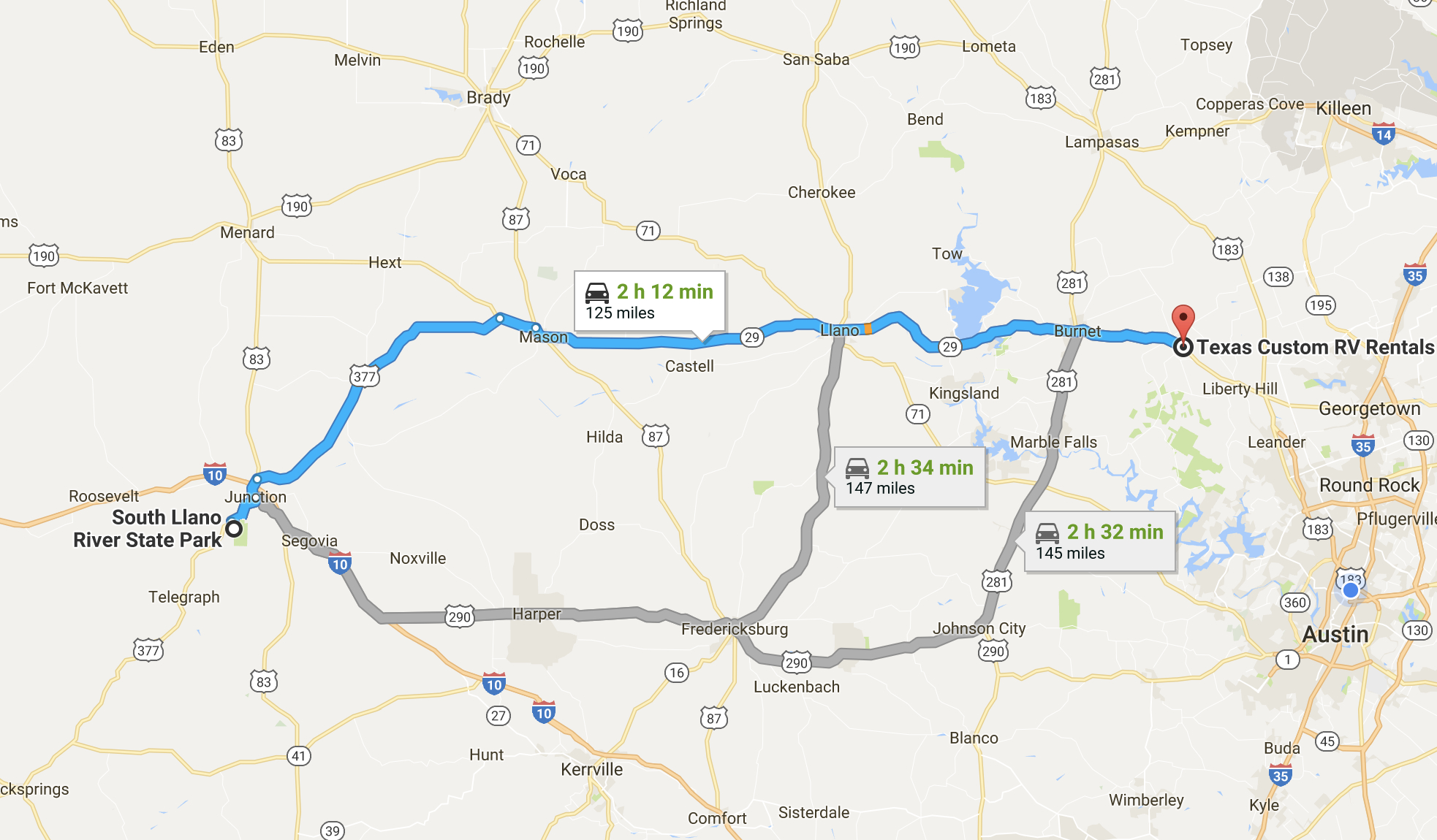 Featured Campground - South Llano River Rv Park & Resort - Texas - Junction Texas Map