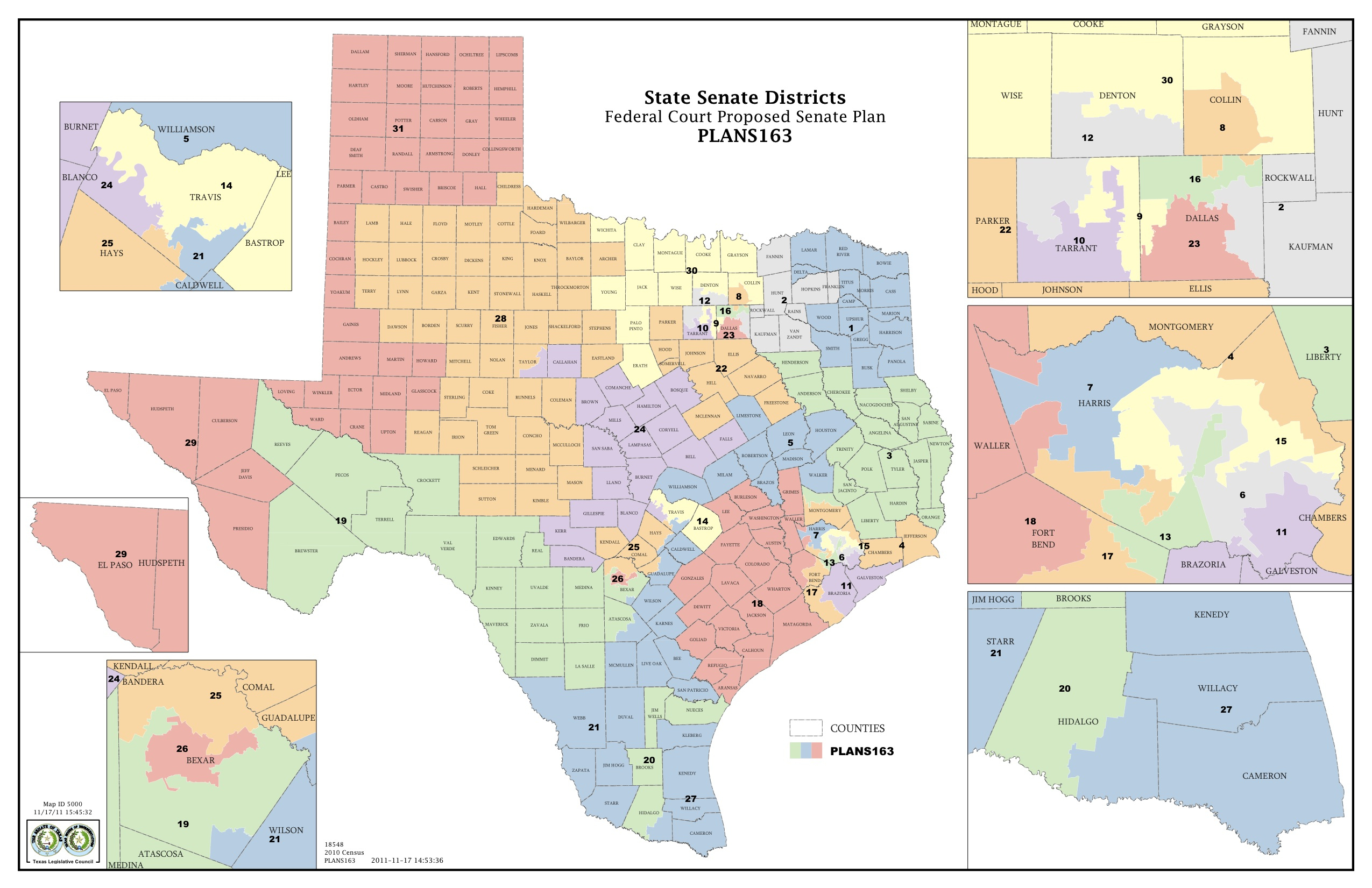 Federal Judges Propose Maps For Texas Legislative Races | The Texas - Texas Congressional Districts Map 2016