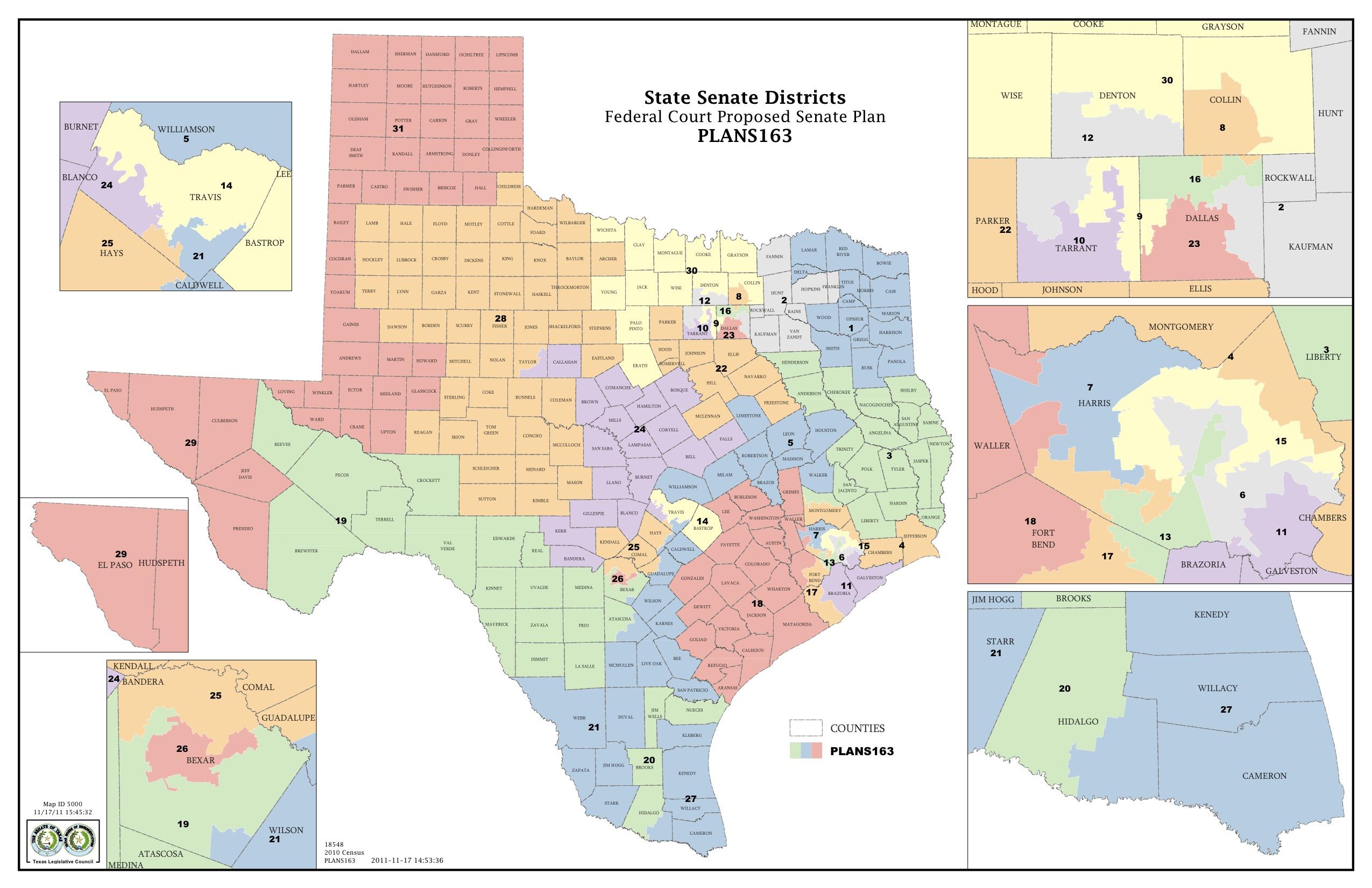 Federal Judges Propose Maps For Texas Legislative Races | The Texas - Texas State Senate District 10 Map