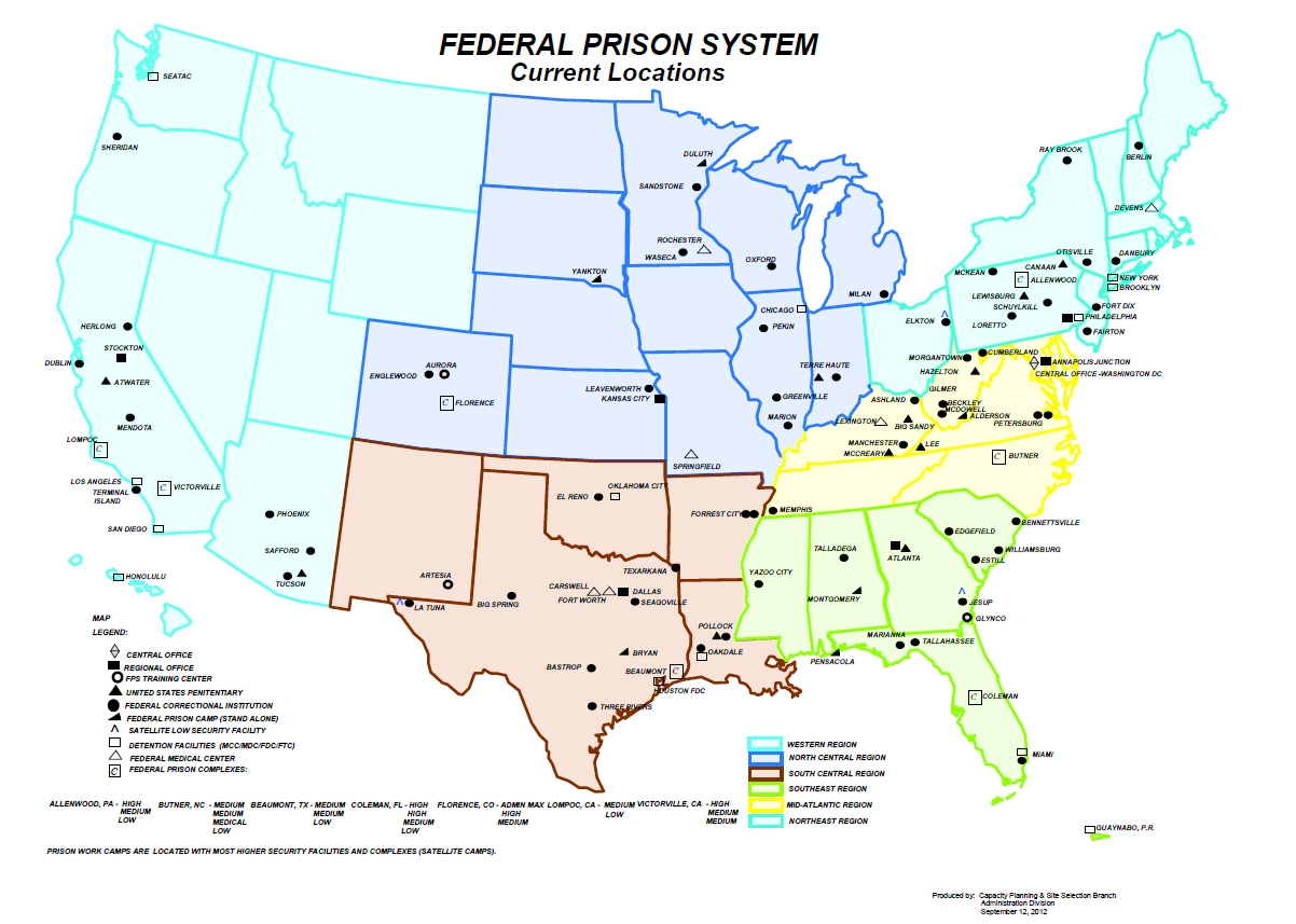 Federal Prisons In Th Map Of California Springs California State - California State Prisons Map