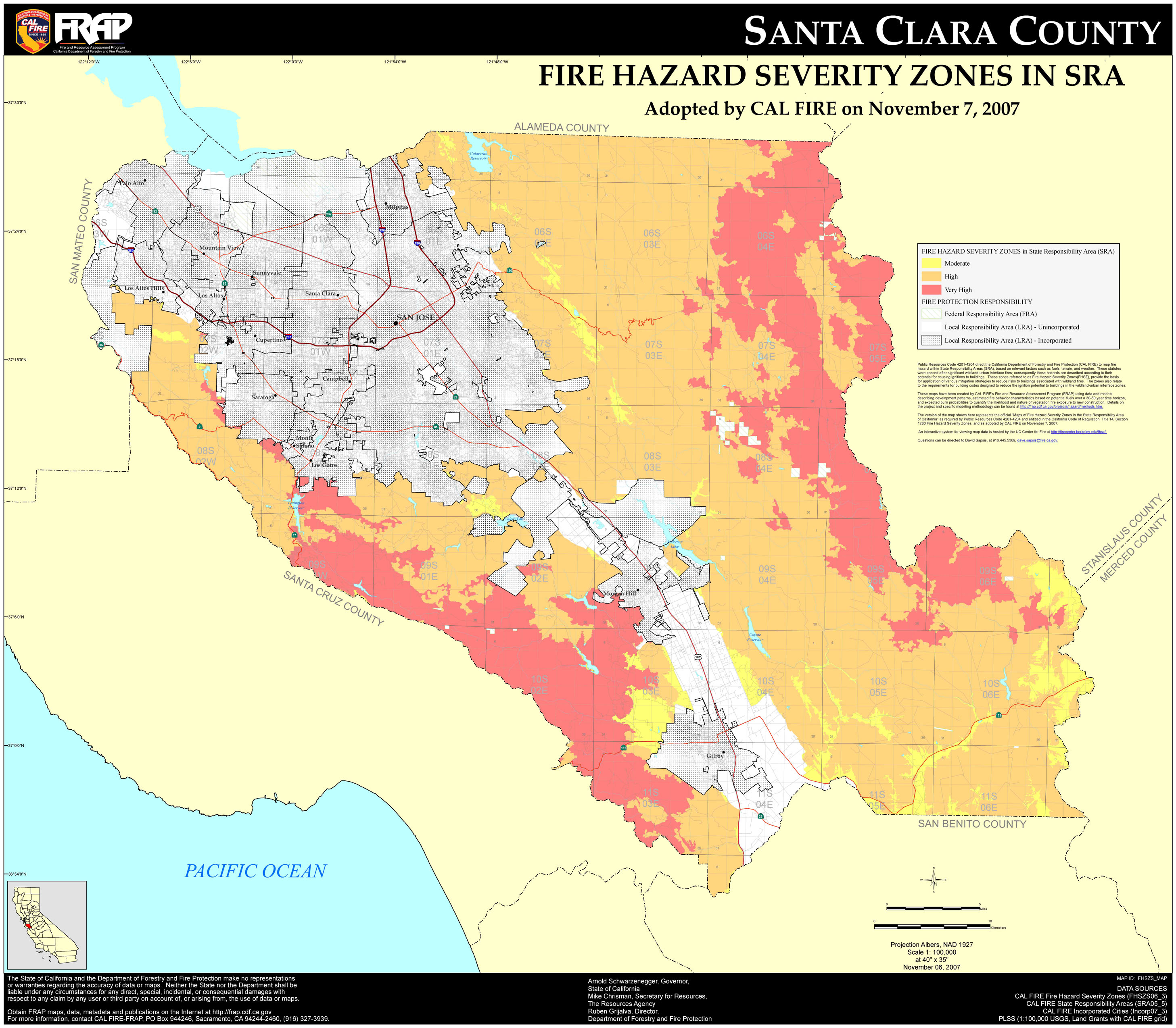 Fhszs Map Maps Of California Map Of Santa Clara California - Klipy - Santa Clara California Map