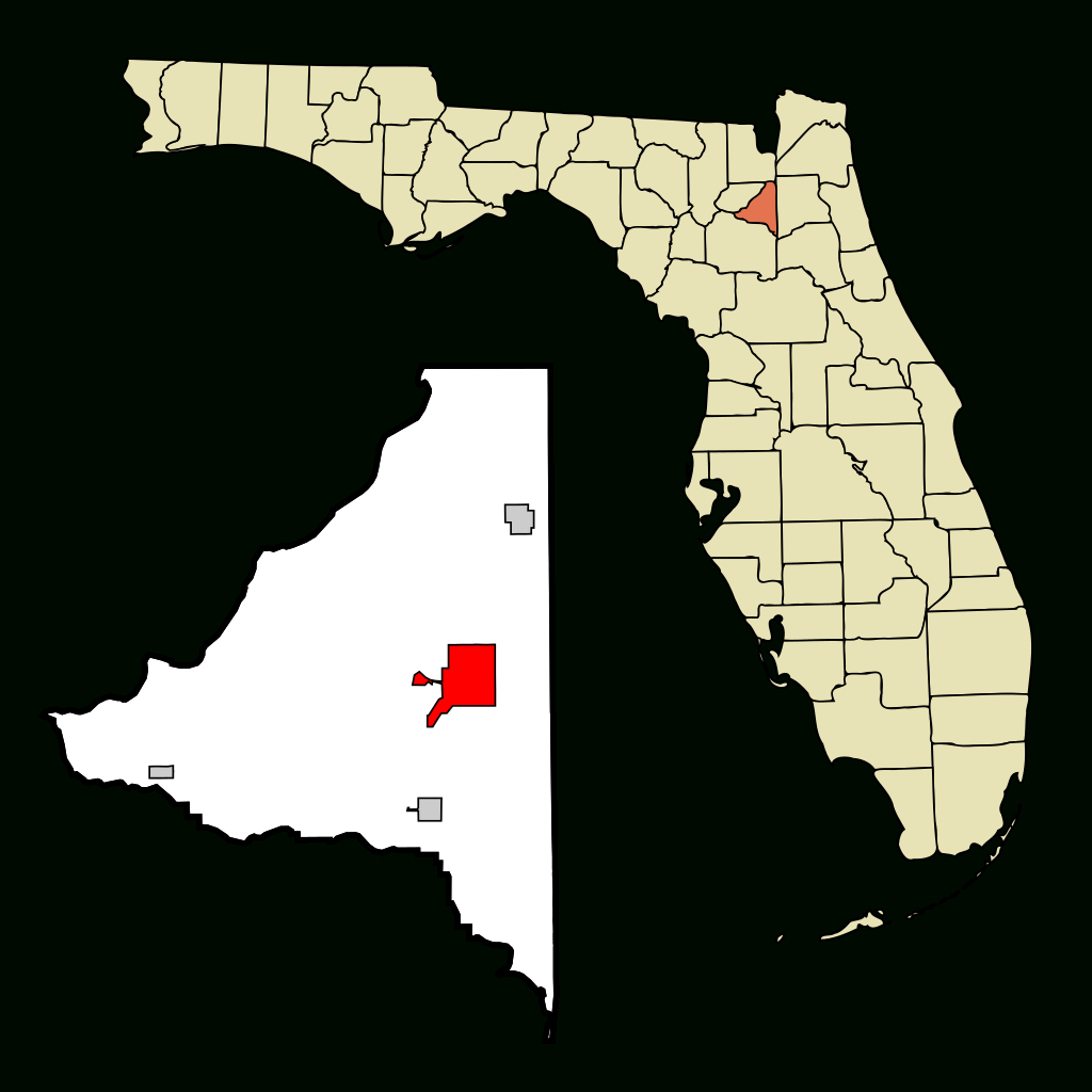Fichier:bradford County Florida Incorporated And Unincorporated - Starke Florida Map