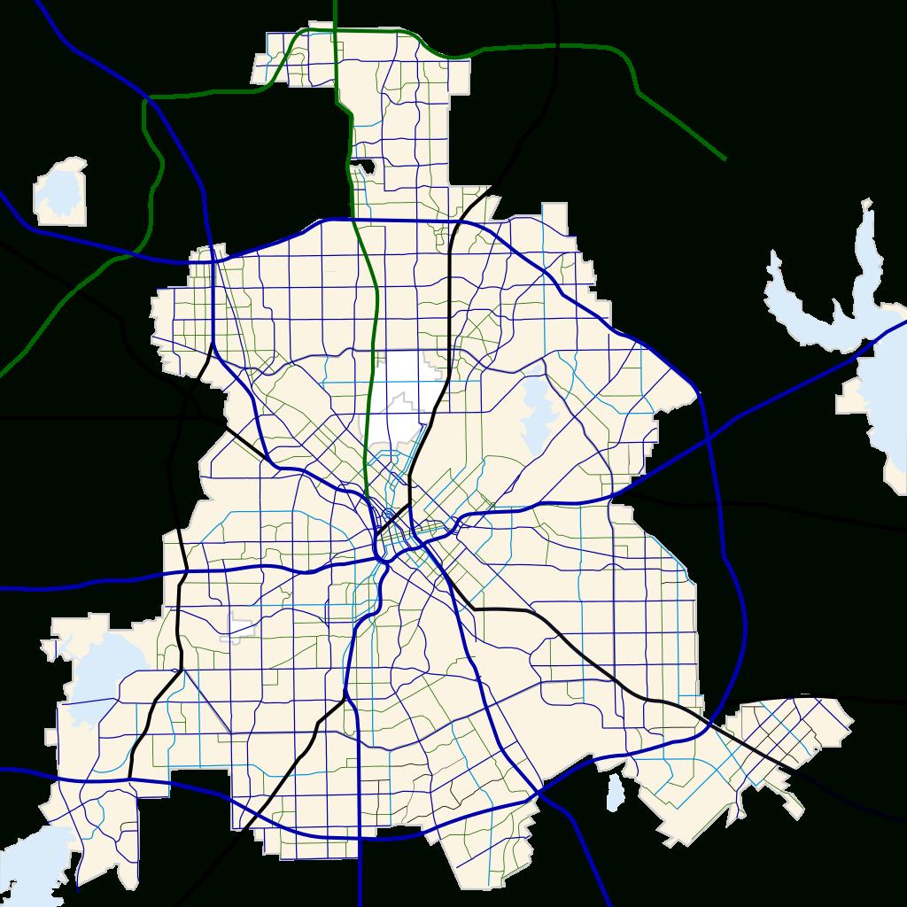 Fichier:dallas, Texas Road Map.svg — Wikipédia - Dallas Map Of Texas