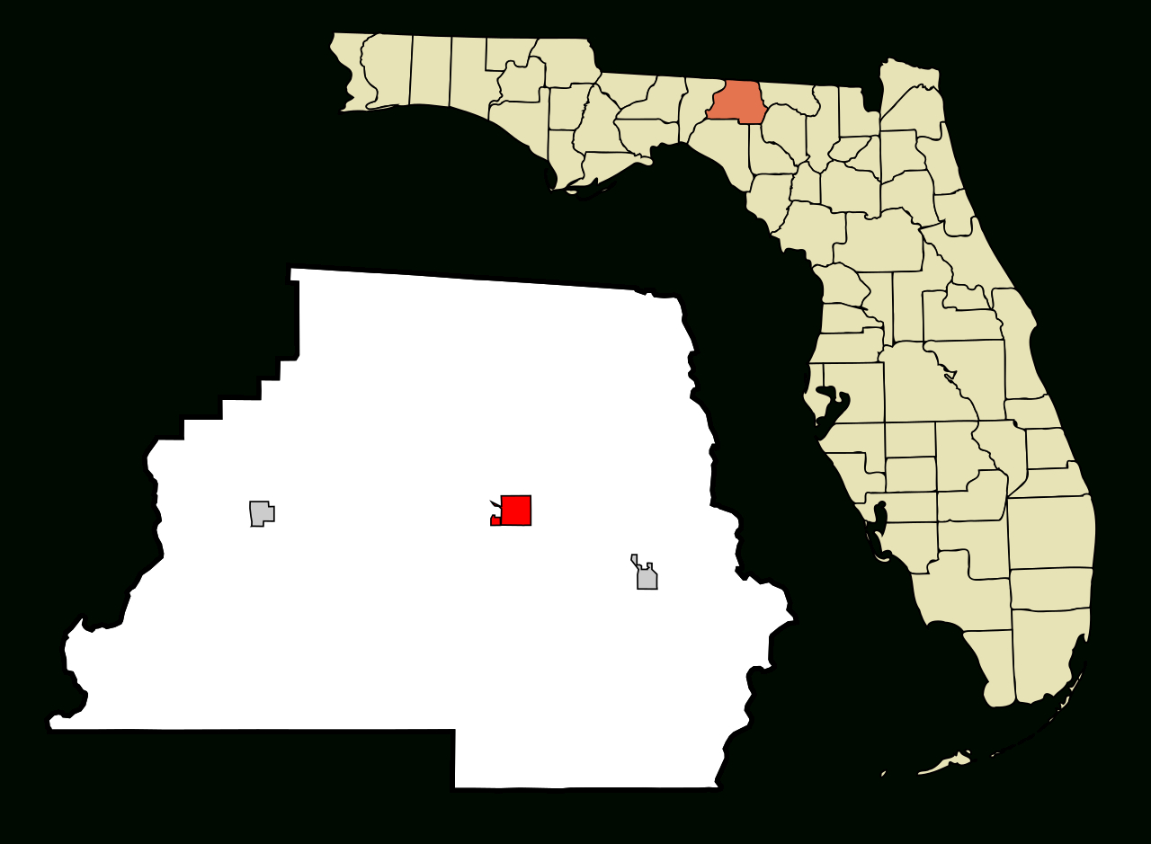 Fichier:madison County Florida Incorporated And Unincorporated Areas - Madison Florida Map