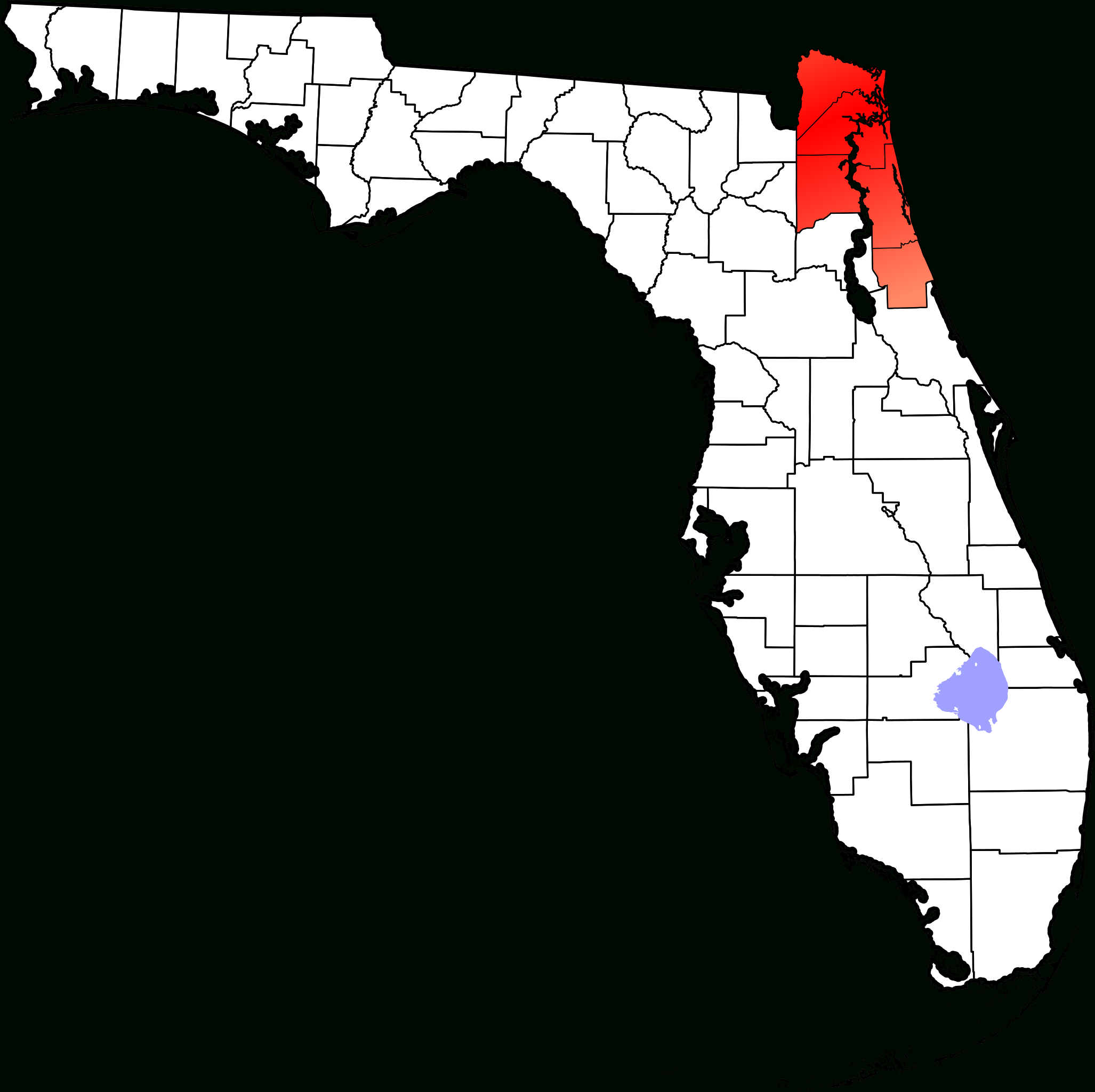 Fichier:map Of Florida Highlighting First Coast.svg — Wikipédia - Florida Coast Map