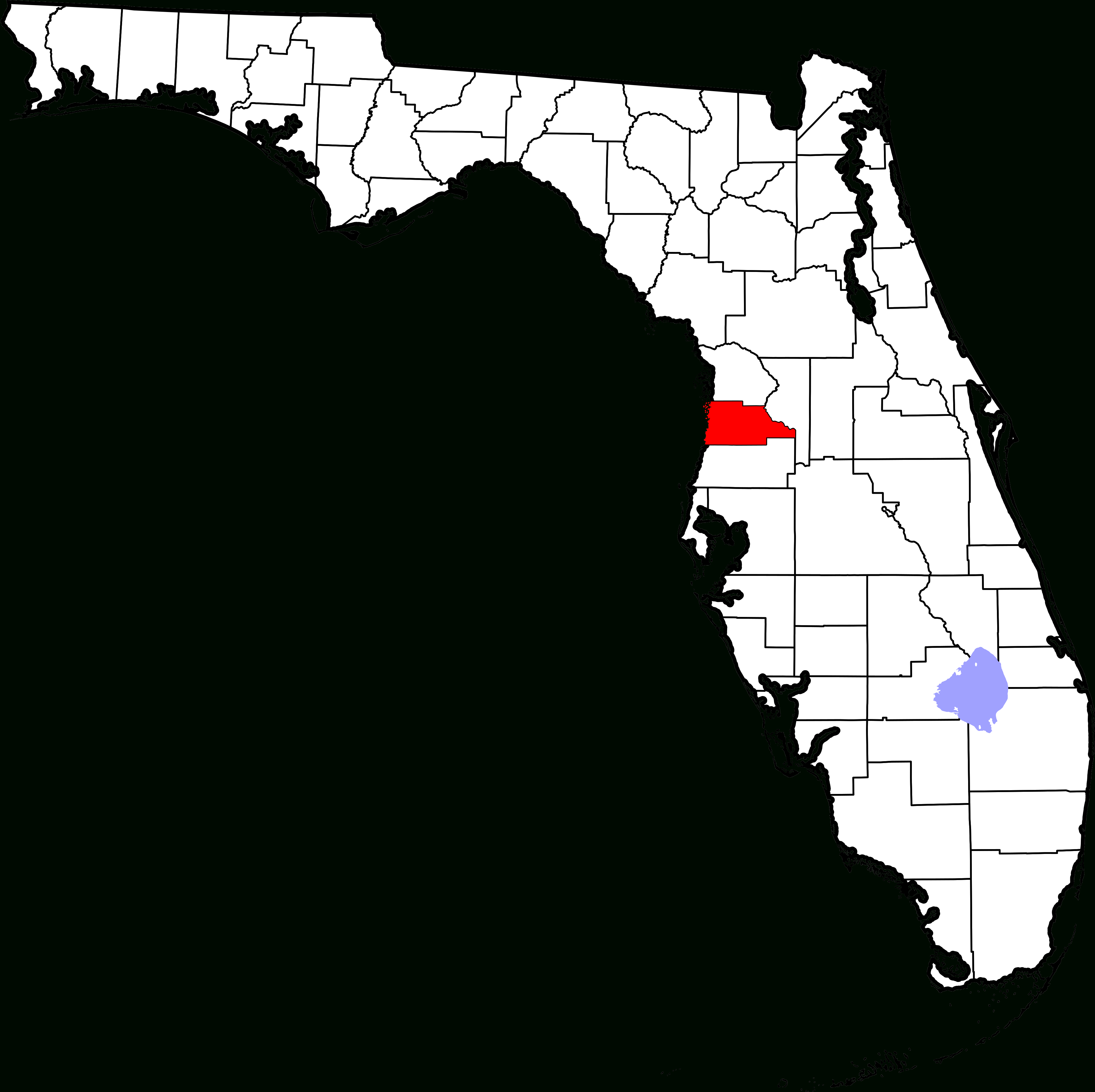 Fichier:map Of Florida Highlighting Hernando County.svg — Wikipédia - Map Of Hernando County Florida