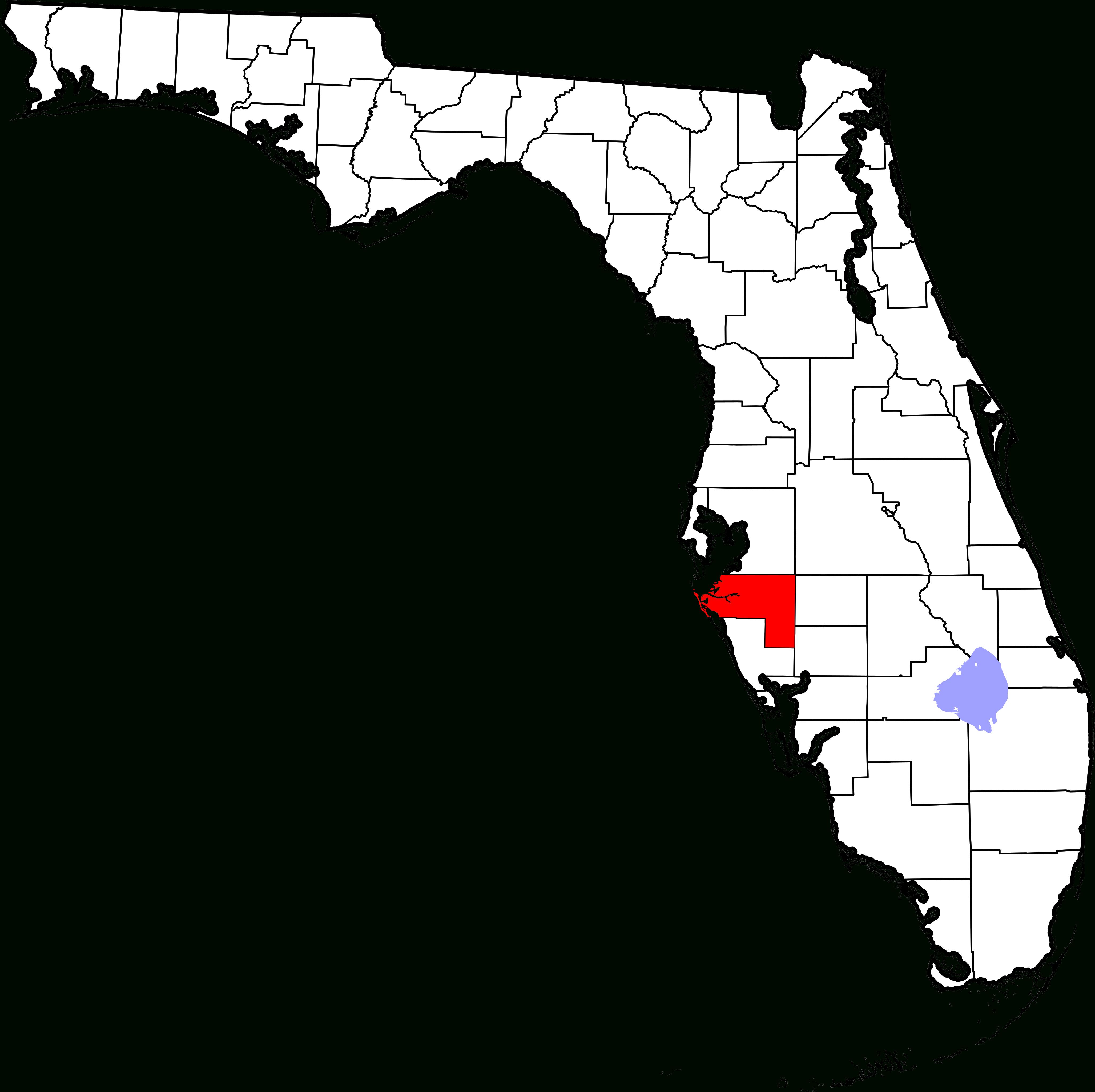 Fichier:map Of Florida Highlighting Manatee County.svg — Wikipédia - Ellenton Florida Map