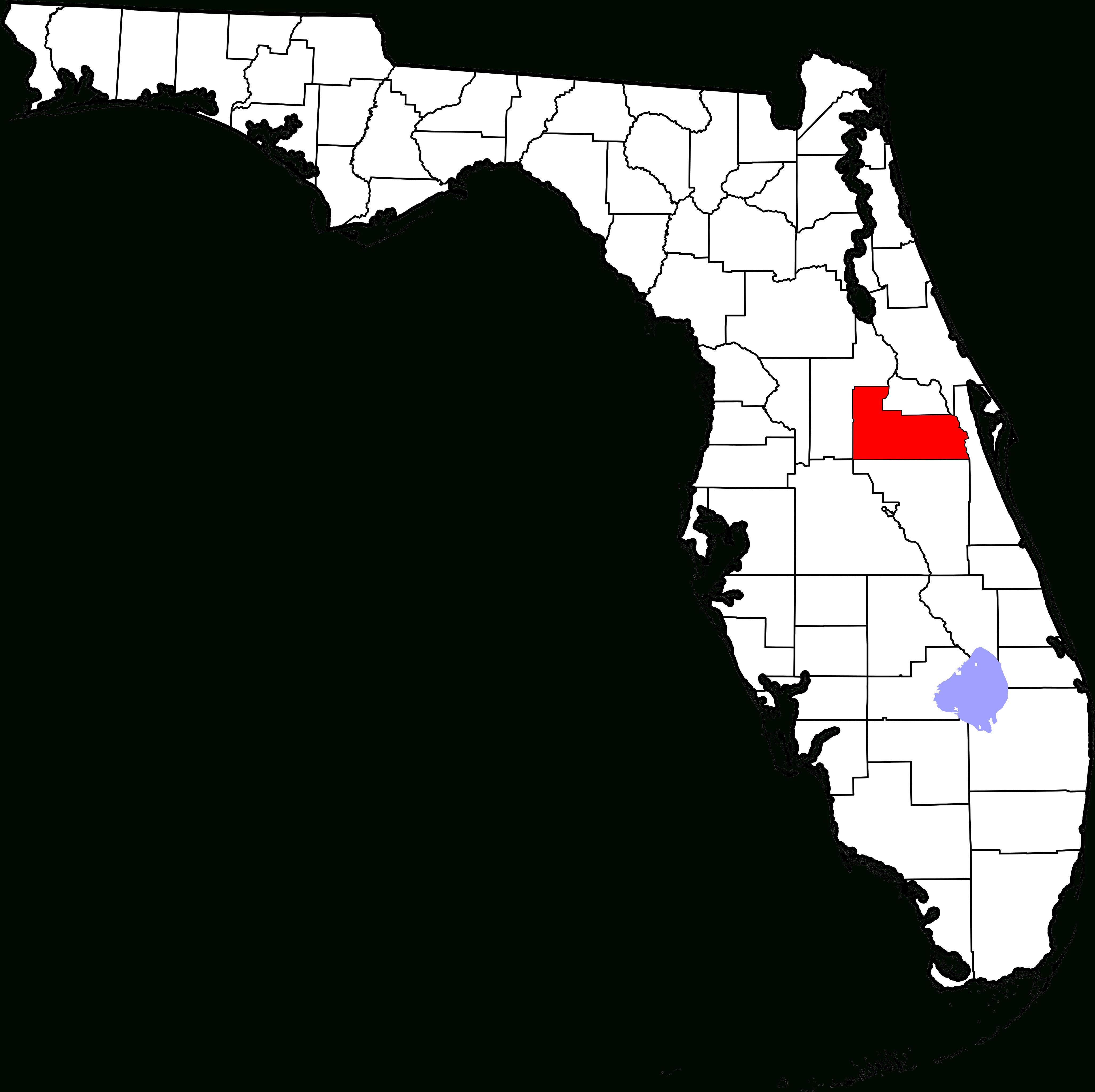 Fichier:map Of Florida Highlighting Orange County.svg — Wikipédia - Orange Florida Map