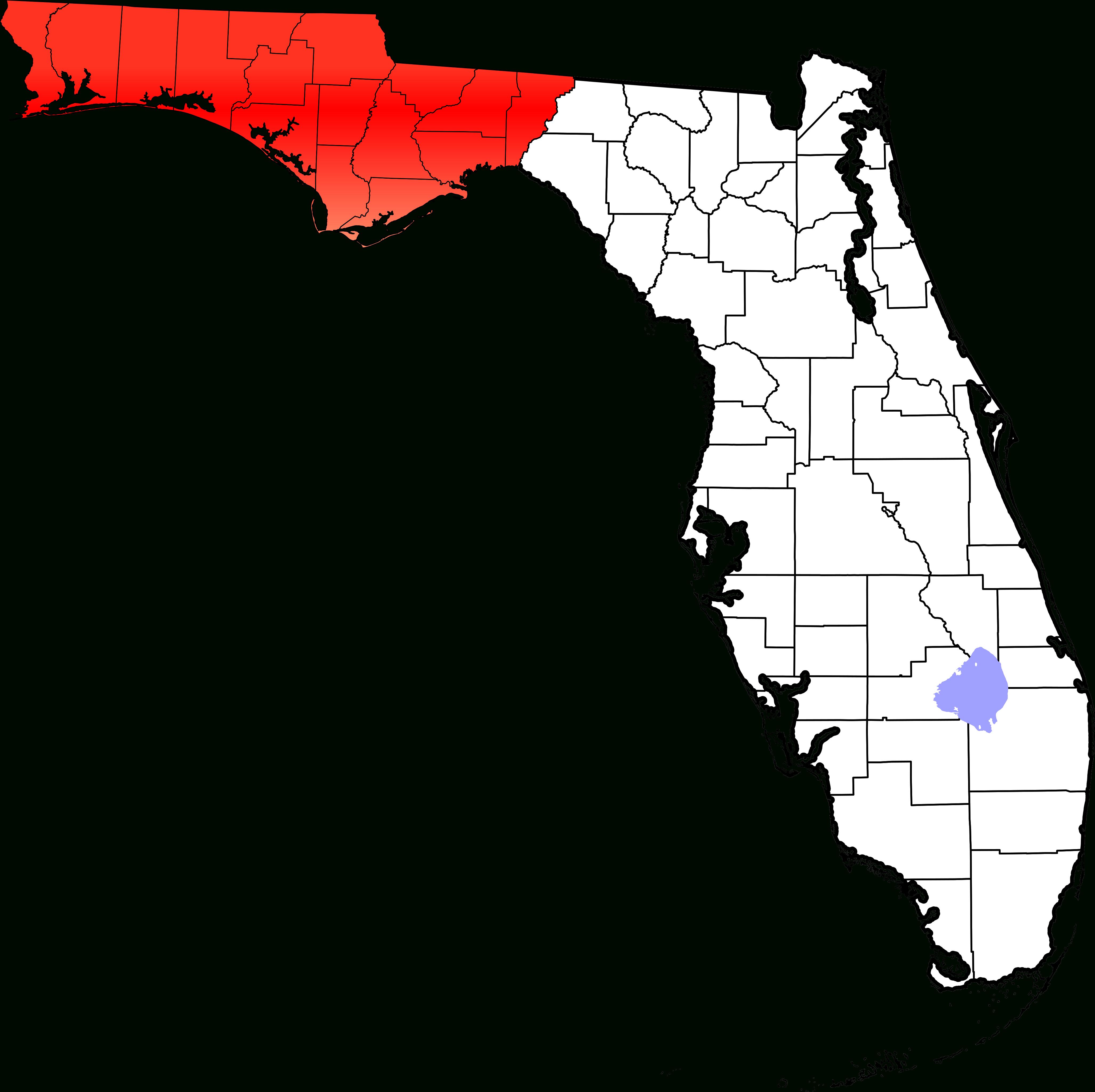 Fichier:map Of Florida Highlighting Panhandle.svg — Wikipédia - Florida Panhandle Map