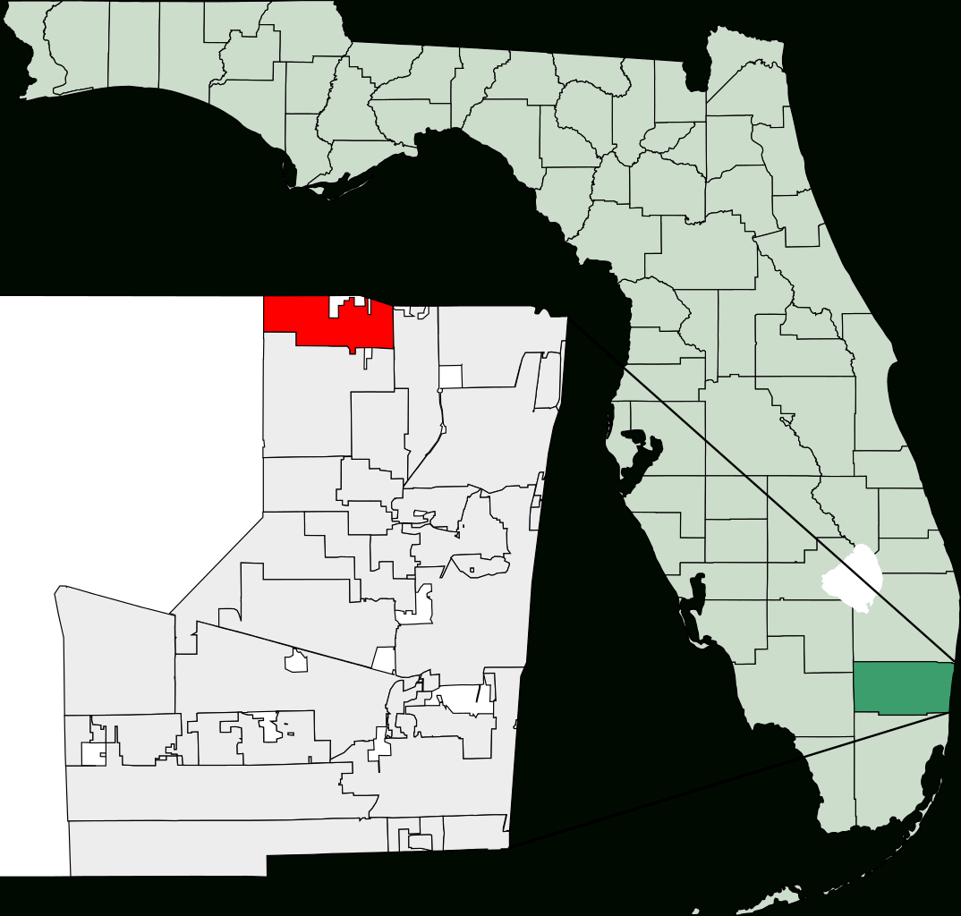 Fichier:map Of Florida Highlighting Parkland.svg — Wikipédia - Parkland Florida Map