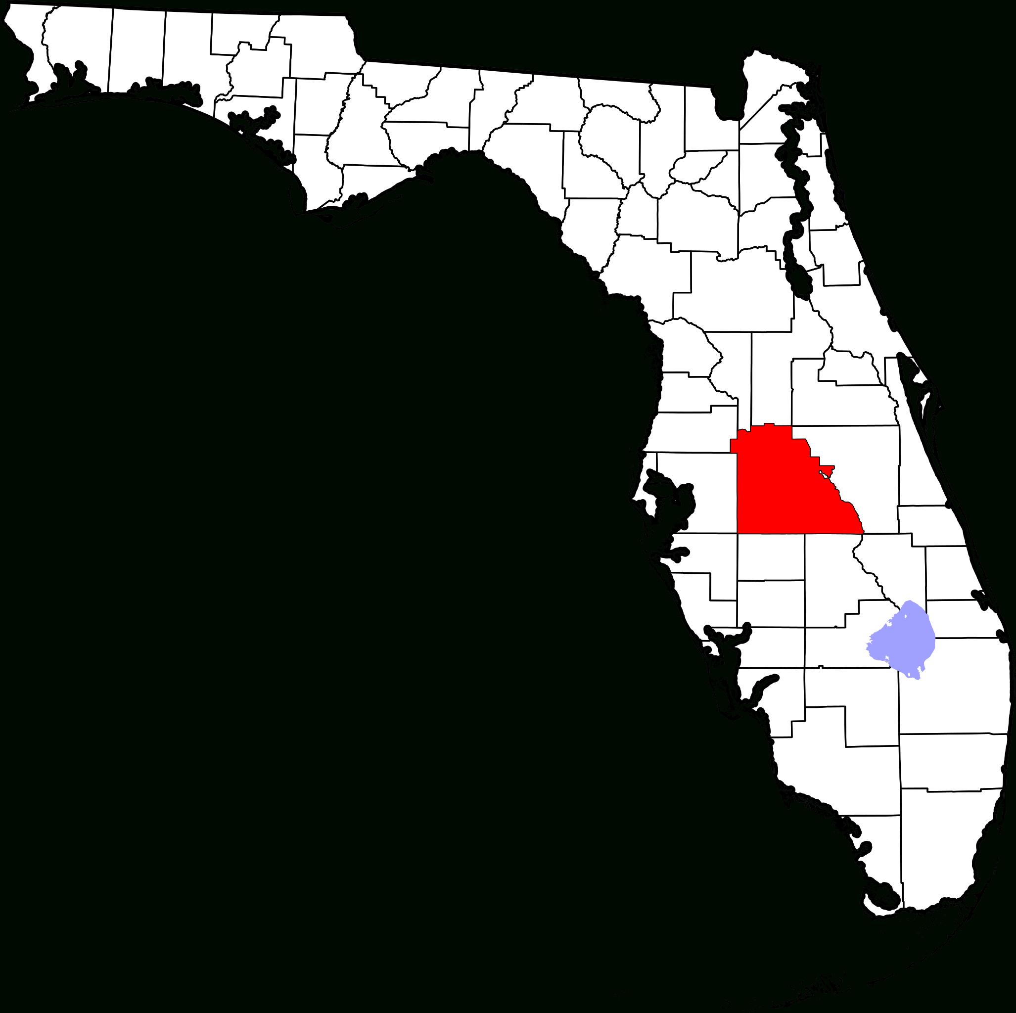 Fichier:map Of Florida Highlighting Polk County.svg — Wikipédia - Frostproof Florida Map