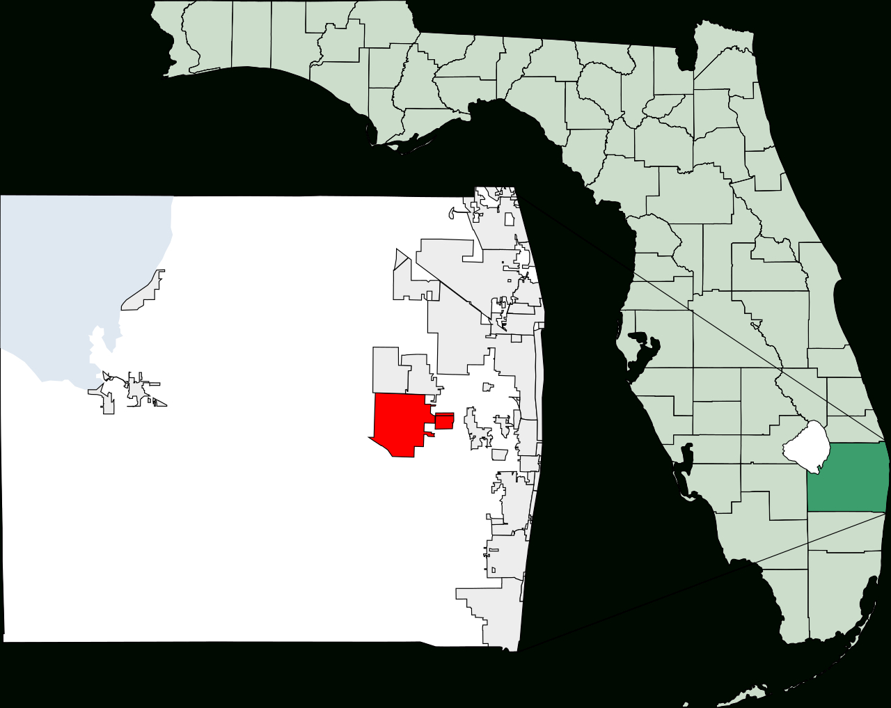 Fichier:map Of Florida Highlighting Wellington.svg — Wikipédia - Wellington Florida Map