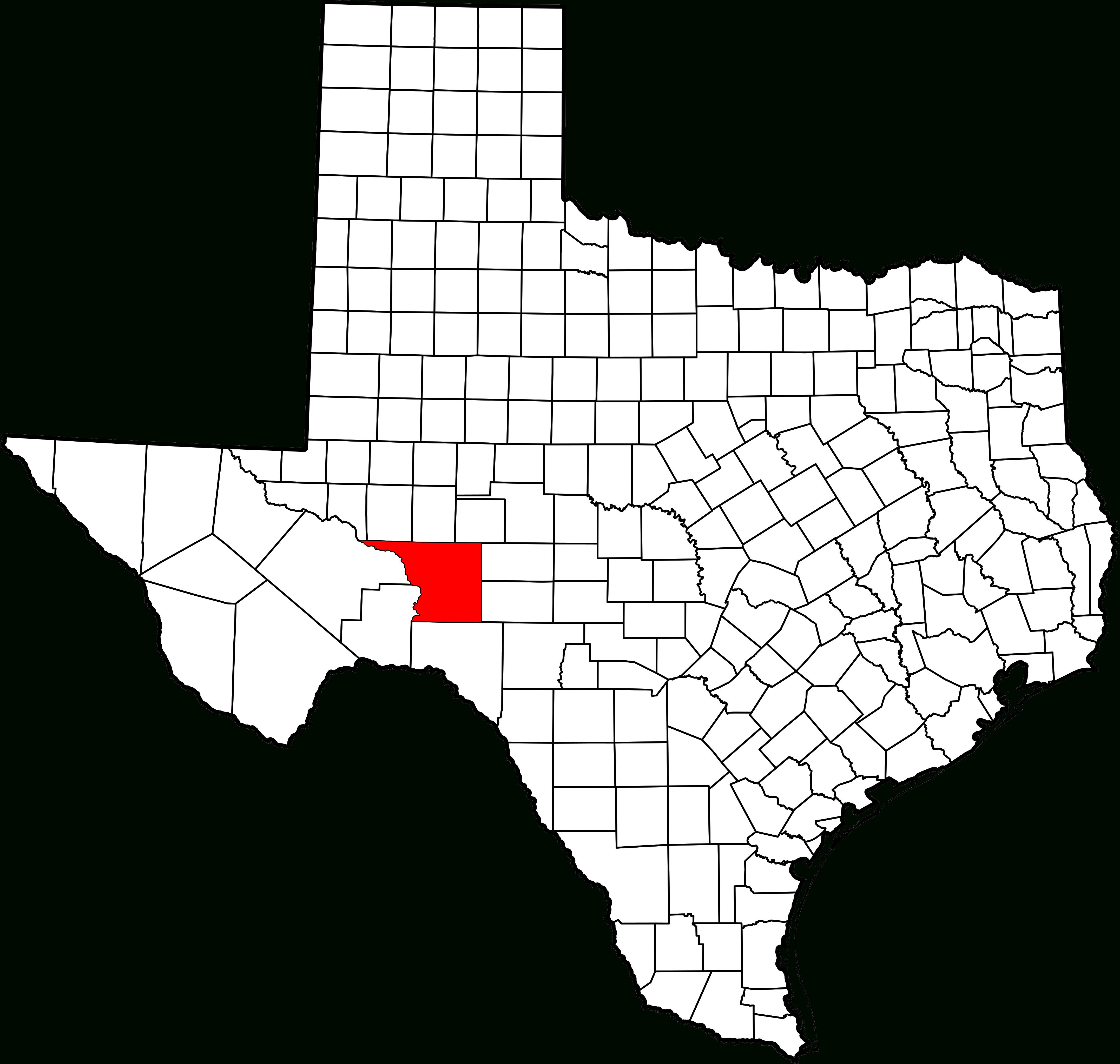 Fichier:map Of Texas Highlighting Crockett County.svg — Wikipédia - Crockett Texas Map