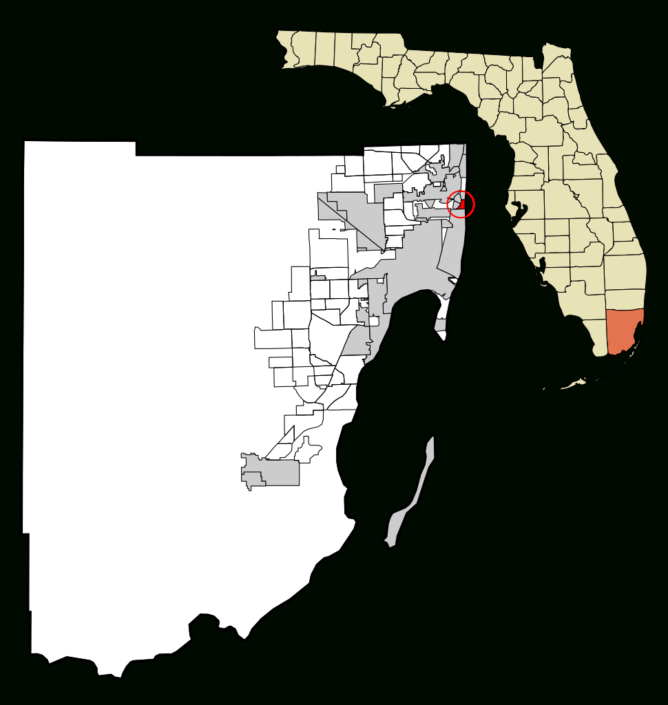 Fichier:miami-Dade County Florida Incorporated And Unincorporated - Surfside Florida Map