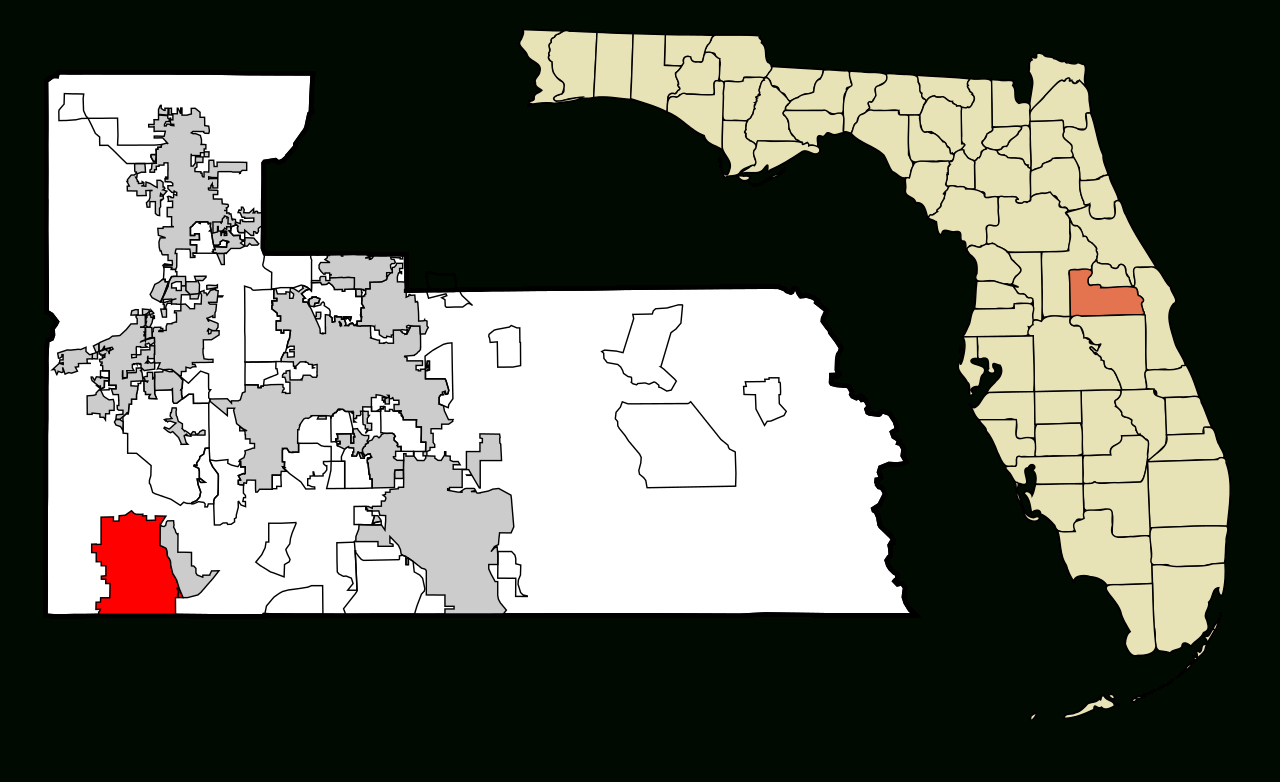 Fichier:orange County Florida Incorporated And Unincorporated Areas - Orange Lake Florida Map