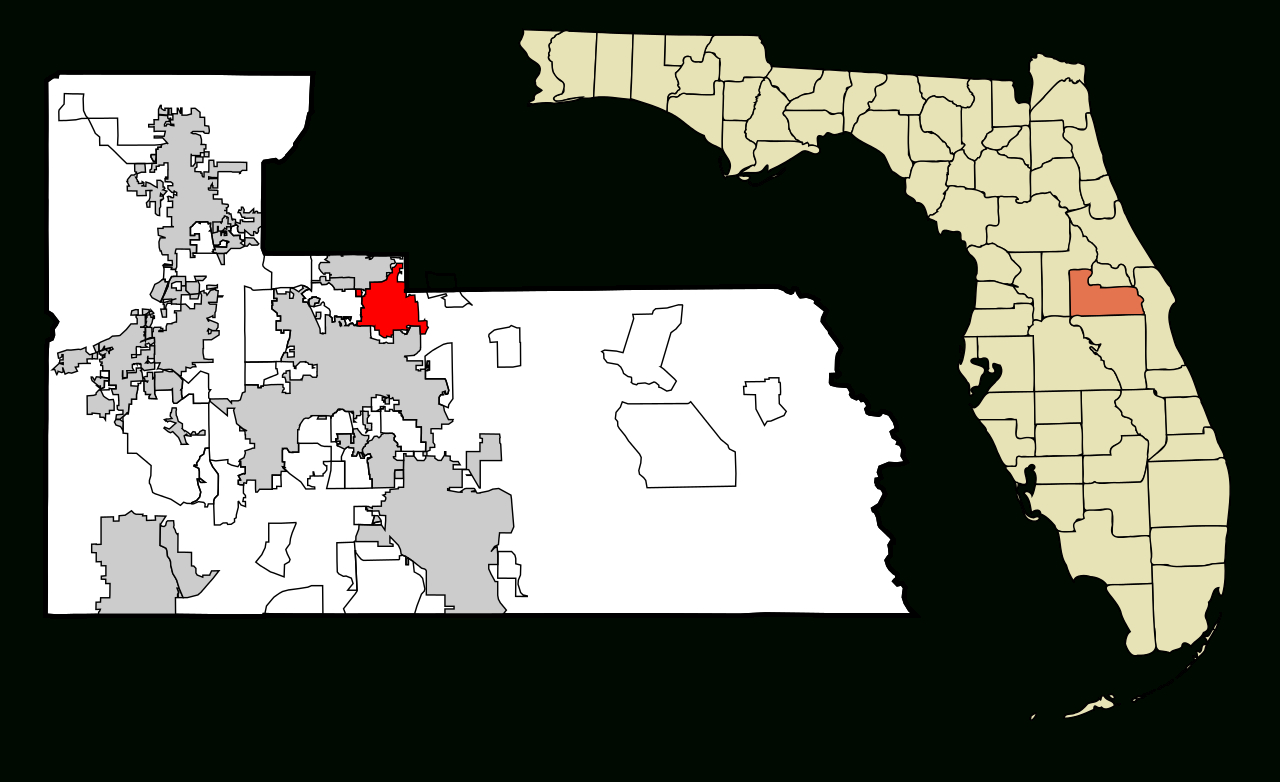 Fichier:orange County Florida Incorporated And Unincorporated Areas - Winter Park Florida Map