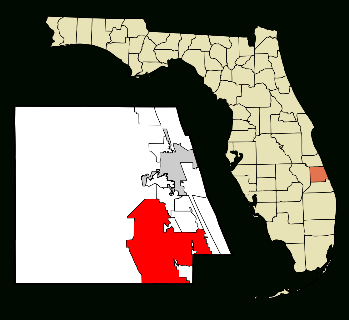 Fichier:st. Lucie County Florida Incorporated And Unincorporated - Map Of Florida With Port St Lucie