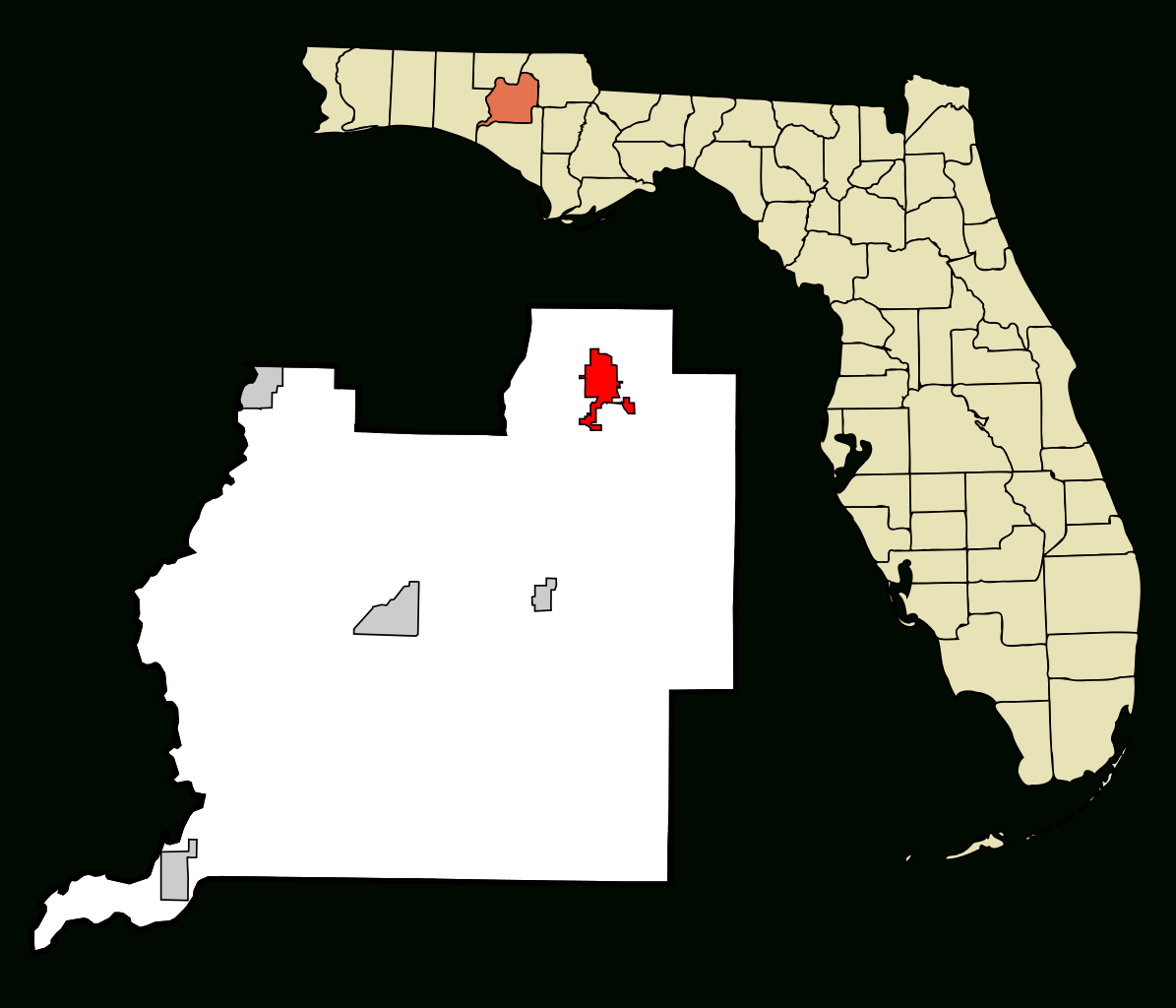 Fichier:washington County Florida Incorporated And Unincorporated - Map Chipley Florida