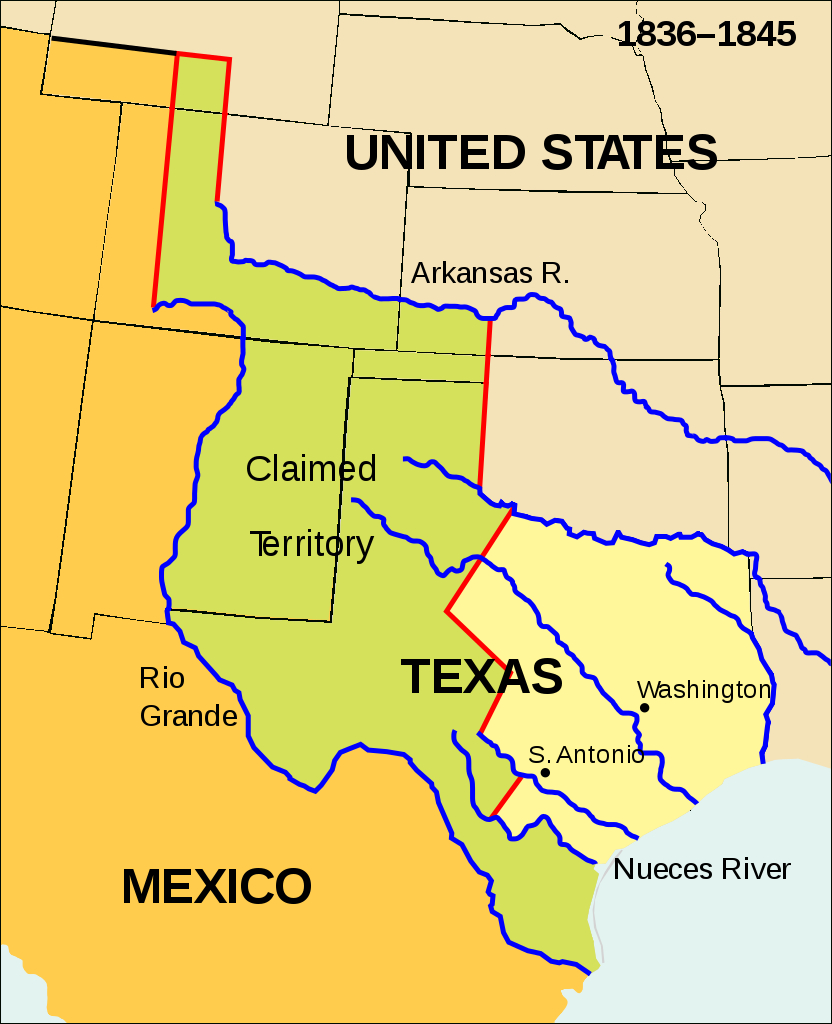 Fichier:wpdms Republic Of Texas.svg — Wikipédia - Republic Of Texas Map